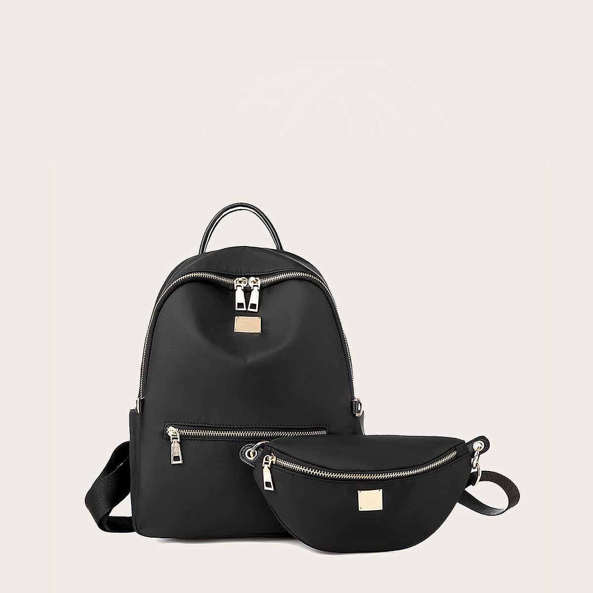 2шт рюкзак и сумка на поясе