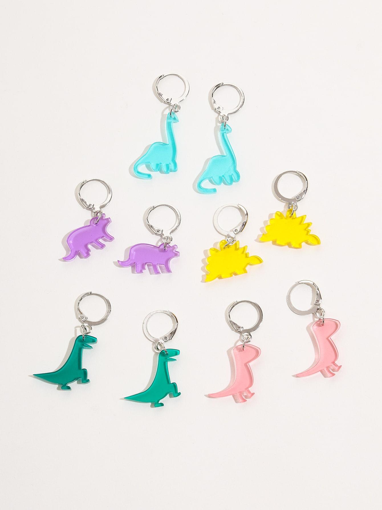 5pairs Dinosaur Drop Earrings thumbnail