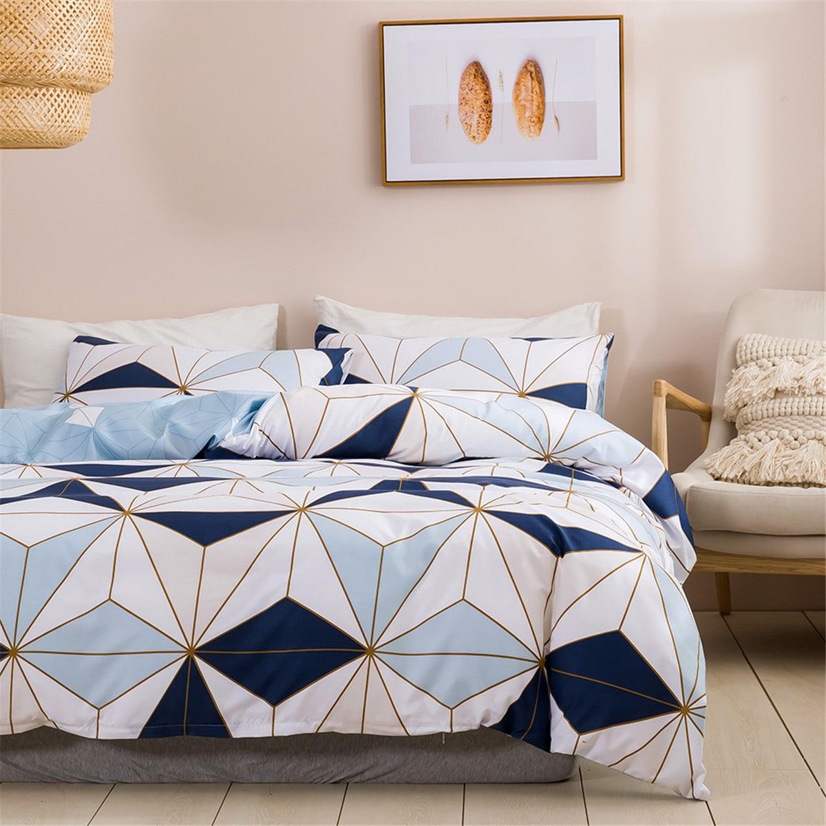Комплект постельного белья с геометрическим узором без наполнителя