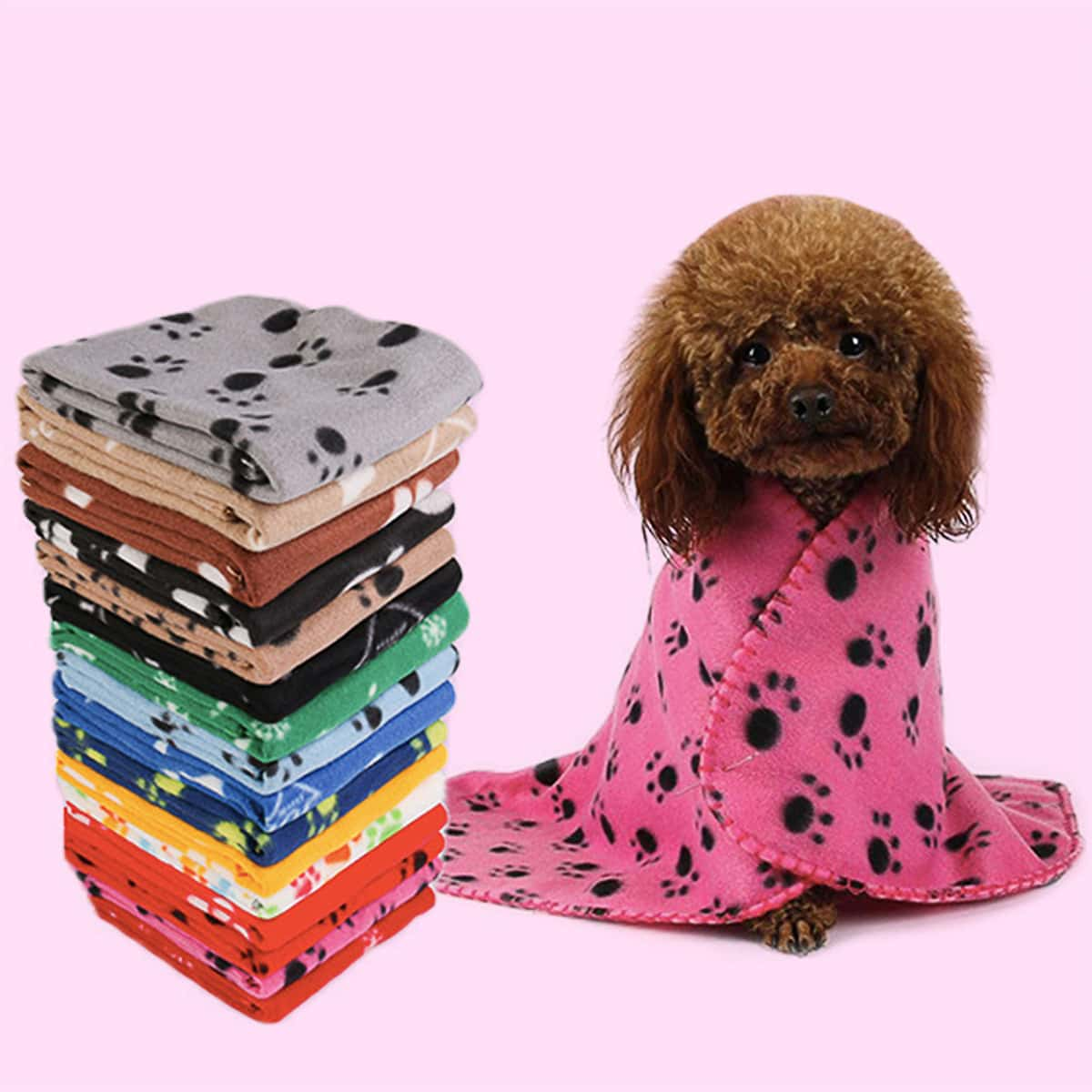 1 Stück Zufällige Farbe Hundedecke mit Fußabdruck Muster