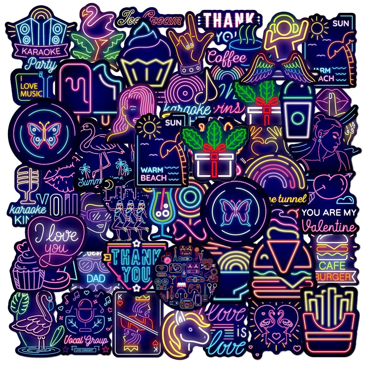 50pcs Graffiti Pattern Sticker