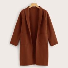 Shawl Collar Dual Pocket Overcoat