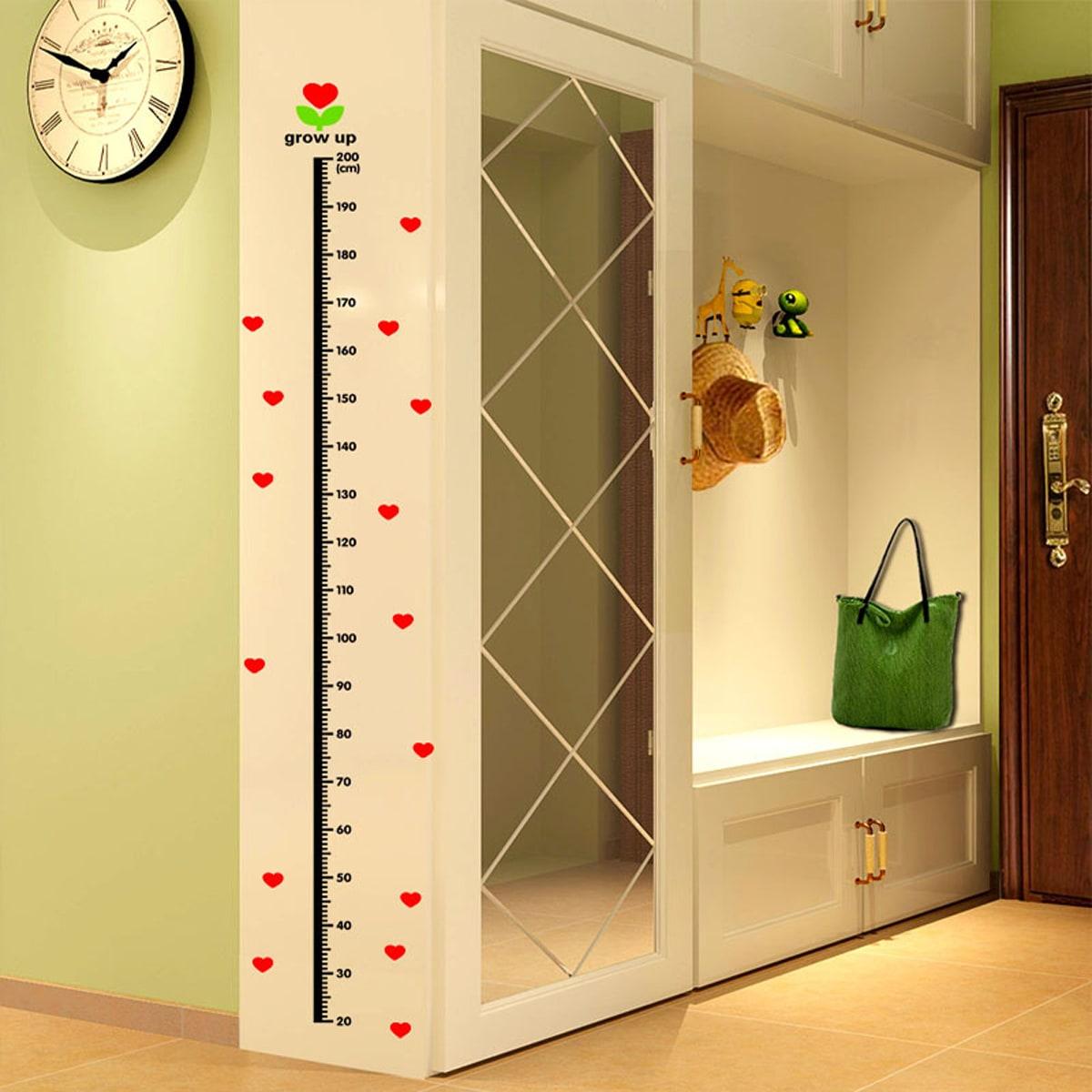 1sheet Kids Height Measurement Chart Wall Sticker
