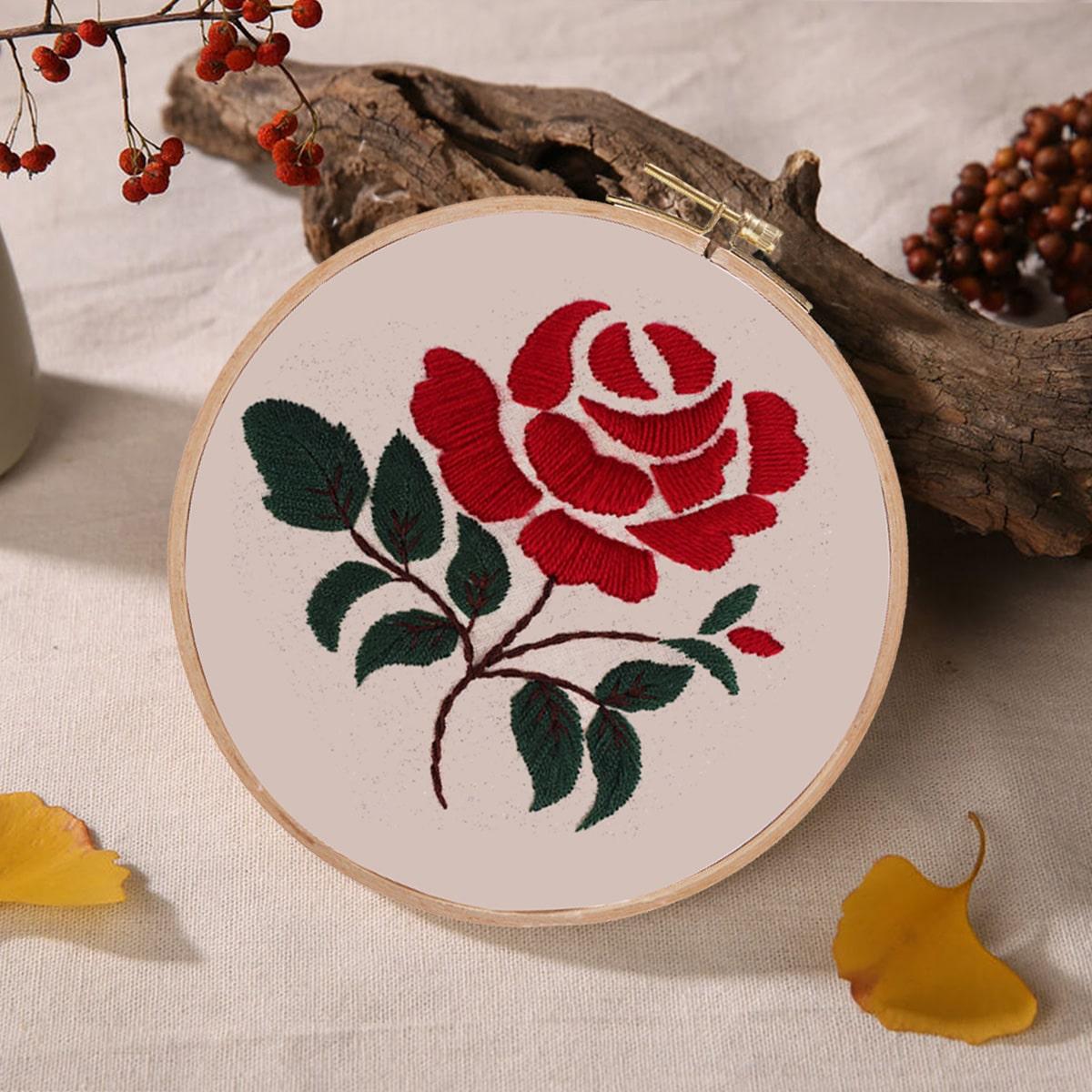 Вышивка крестиком DIY с цветочным узором