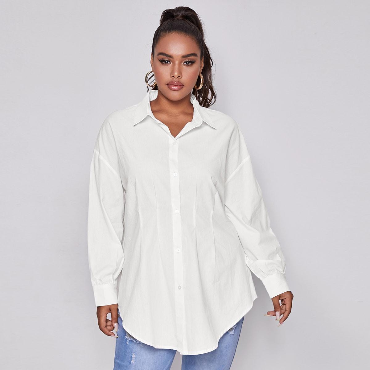 Длинная блузка размера плюс