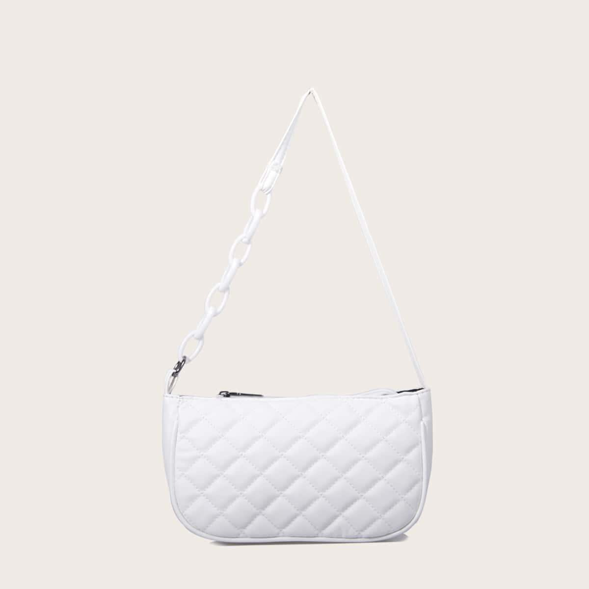 Минималистская стеганая сумка-багет