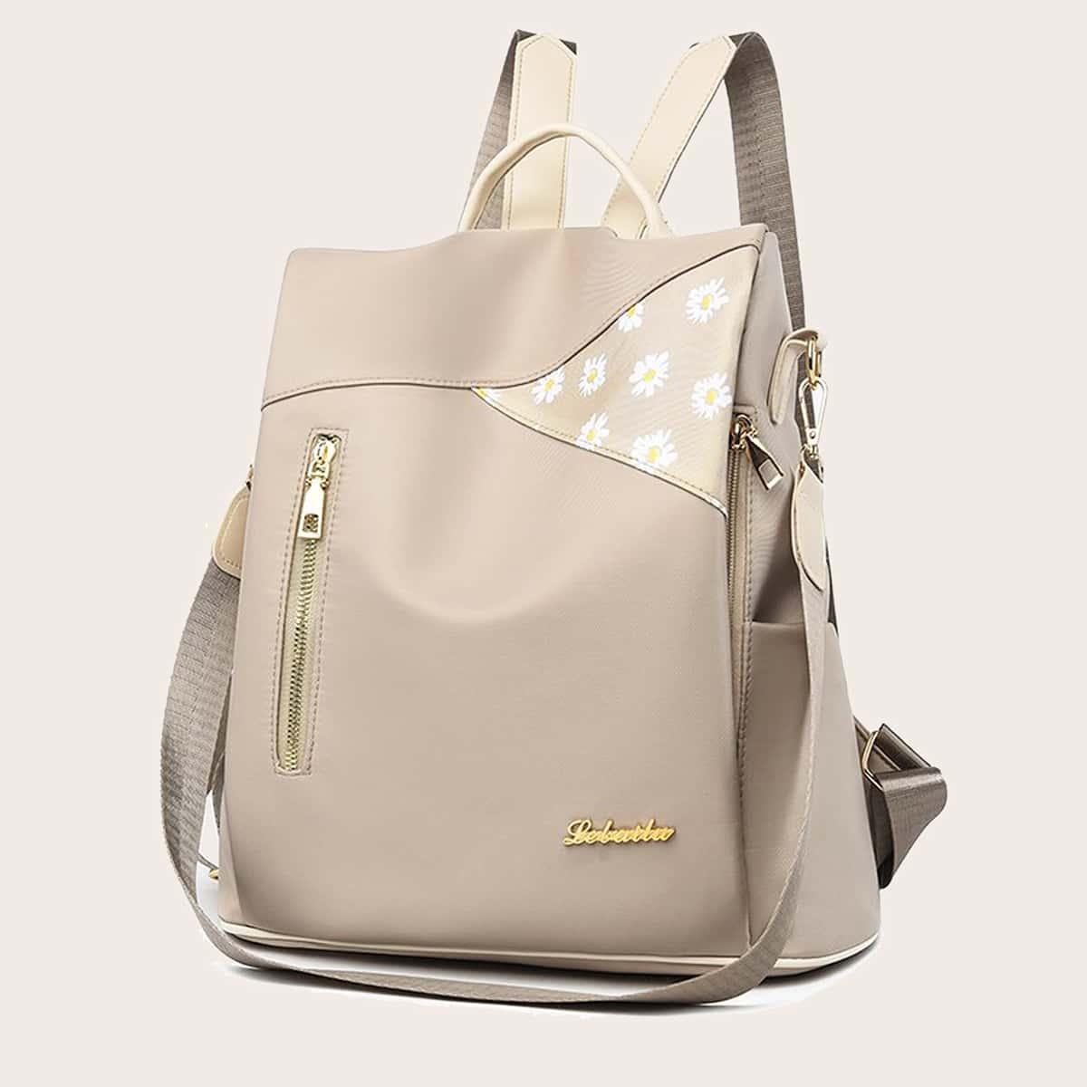 Рюкзак с цветочным принтом