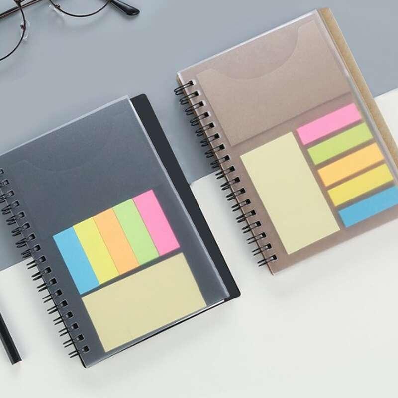 1pc Random 2 In 1 Sticky Note & Notebook, Multicolor