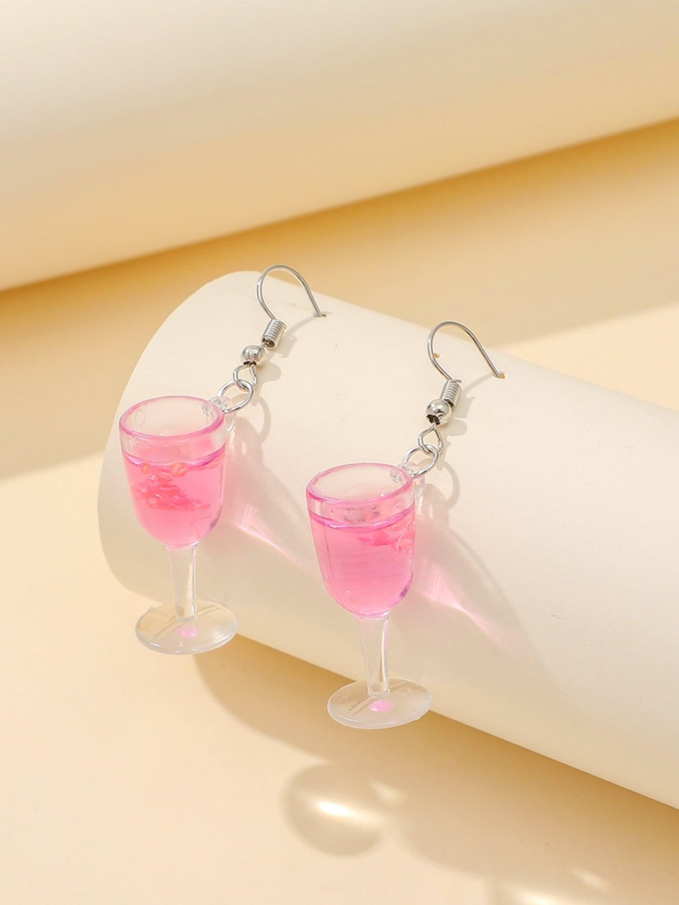 Wine Cup Drop Earrings thumbnail