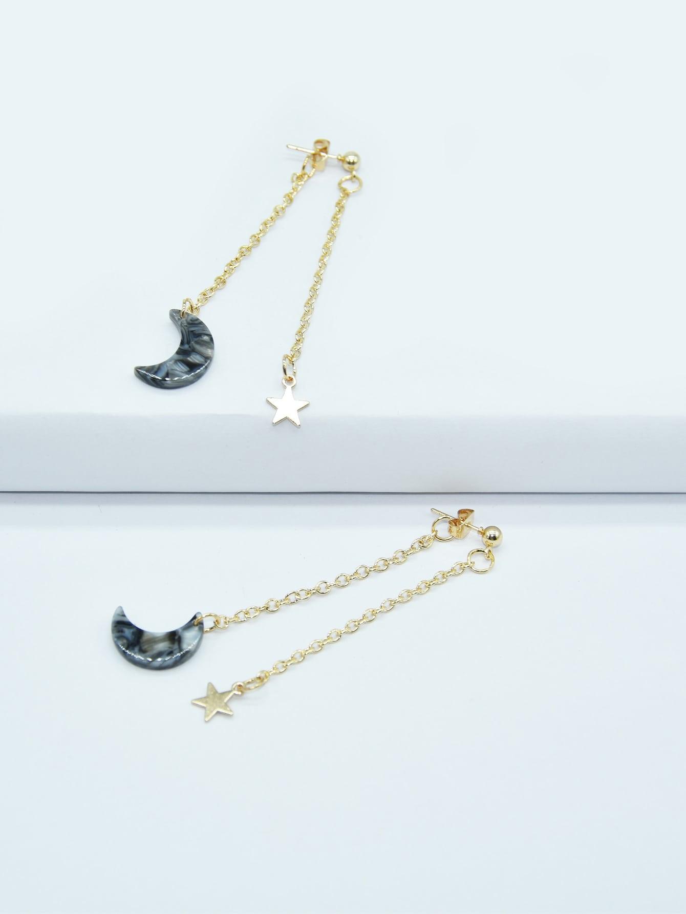 Moon & Star Charm Earring Jackets thumbnail