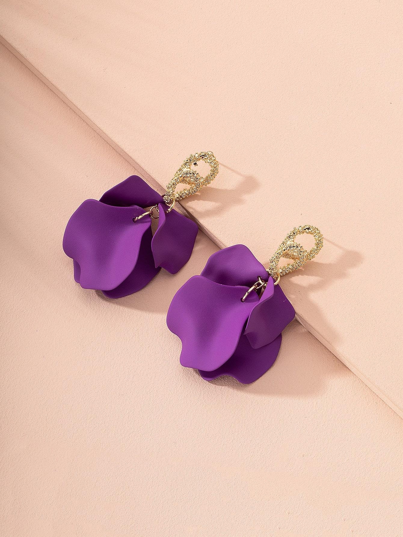 Floral Charm Drop Earrings thumbnail