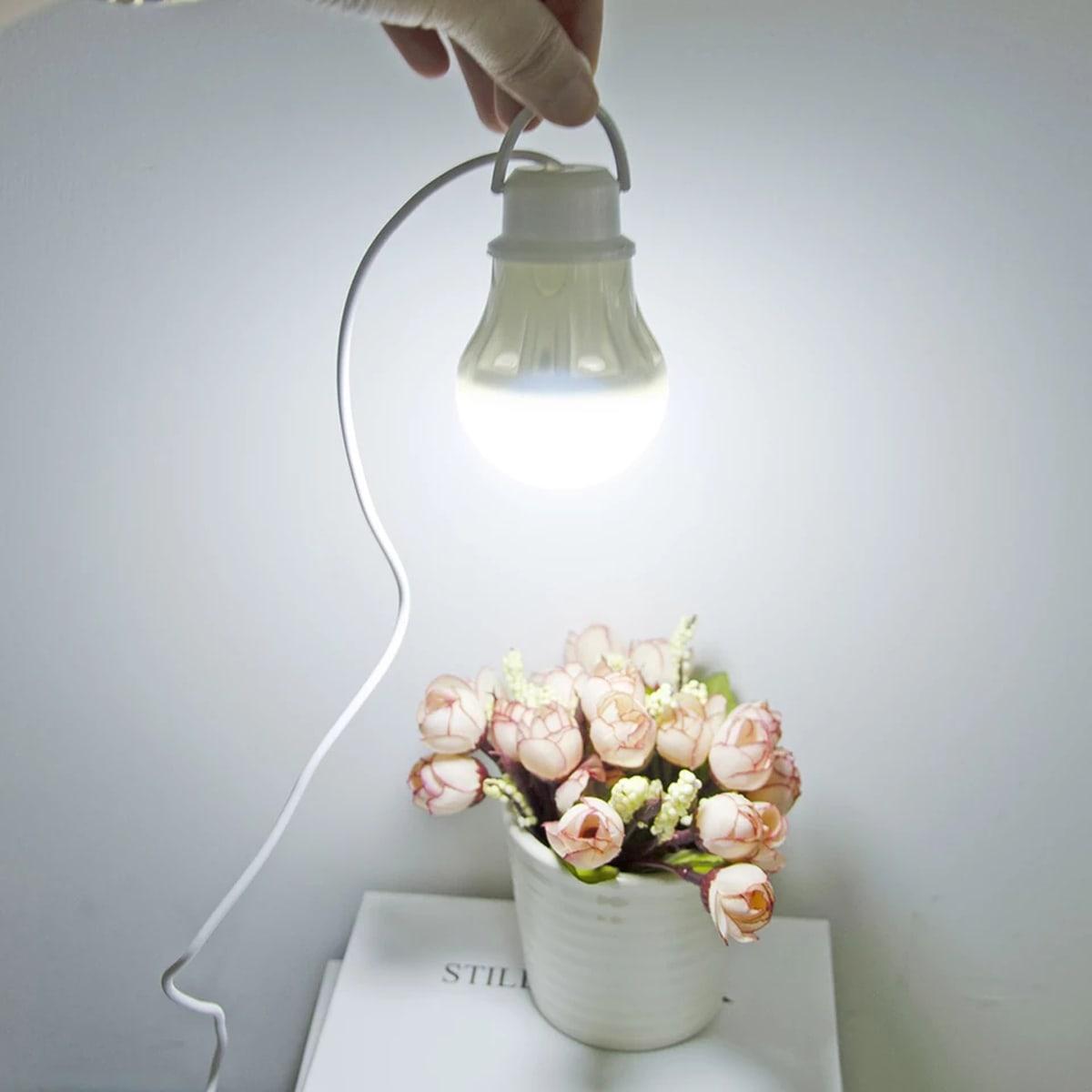 1 Stück hängende LED-Glühbirne