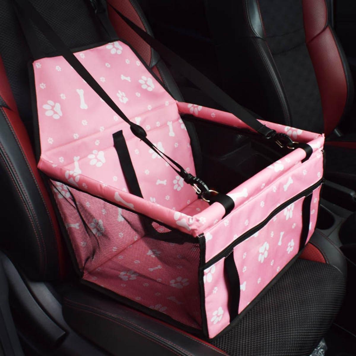 1 Stück Autositz Hundeträgerkorb mit Kontrast Netzstoff