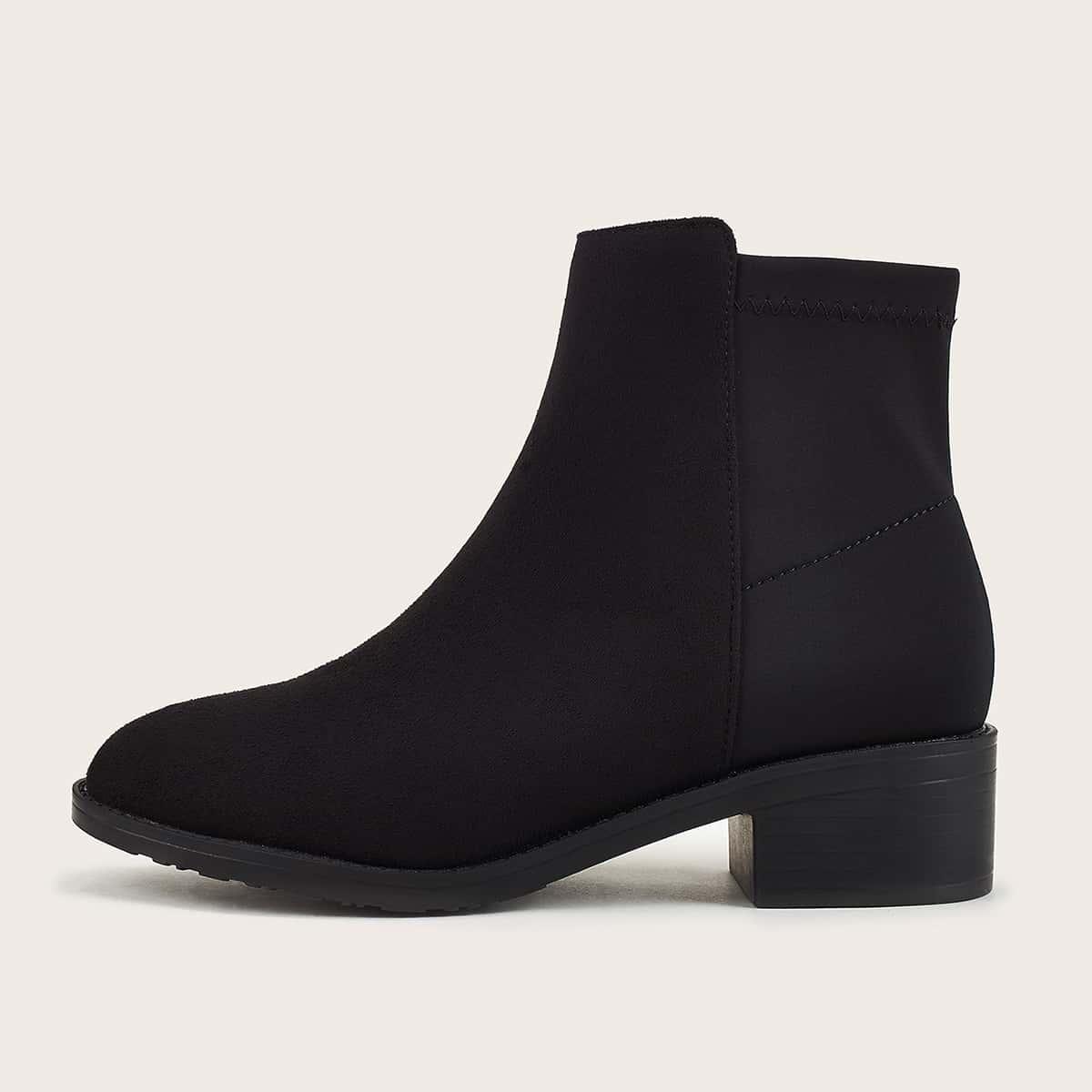 Чёрный Одноцветный Осенняя/зимняя обувь
