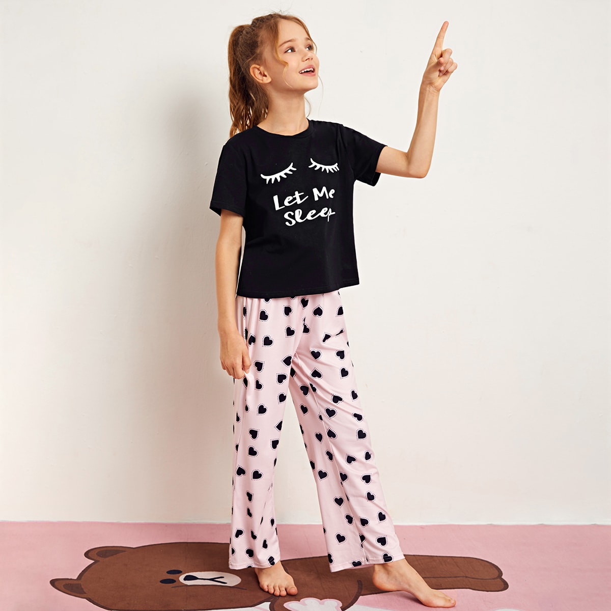 Пижама с принтом для девочек