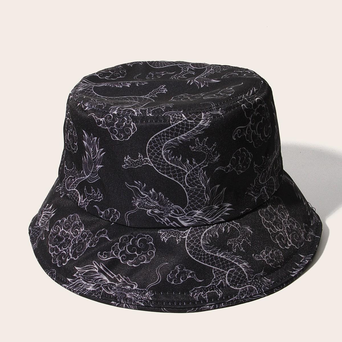 Шляпа с узором китайского дракона