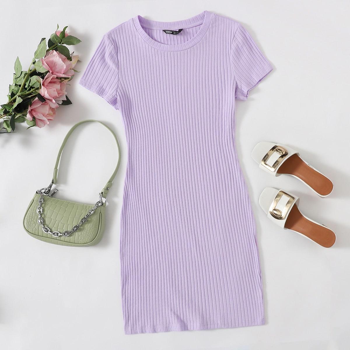 Вязаное облегающее платье SheIn swdress07200724992