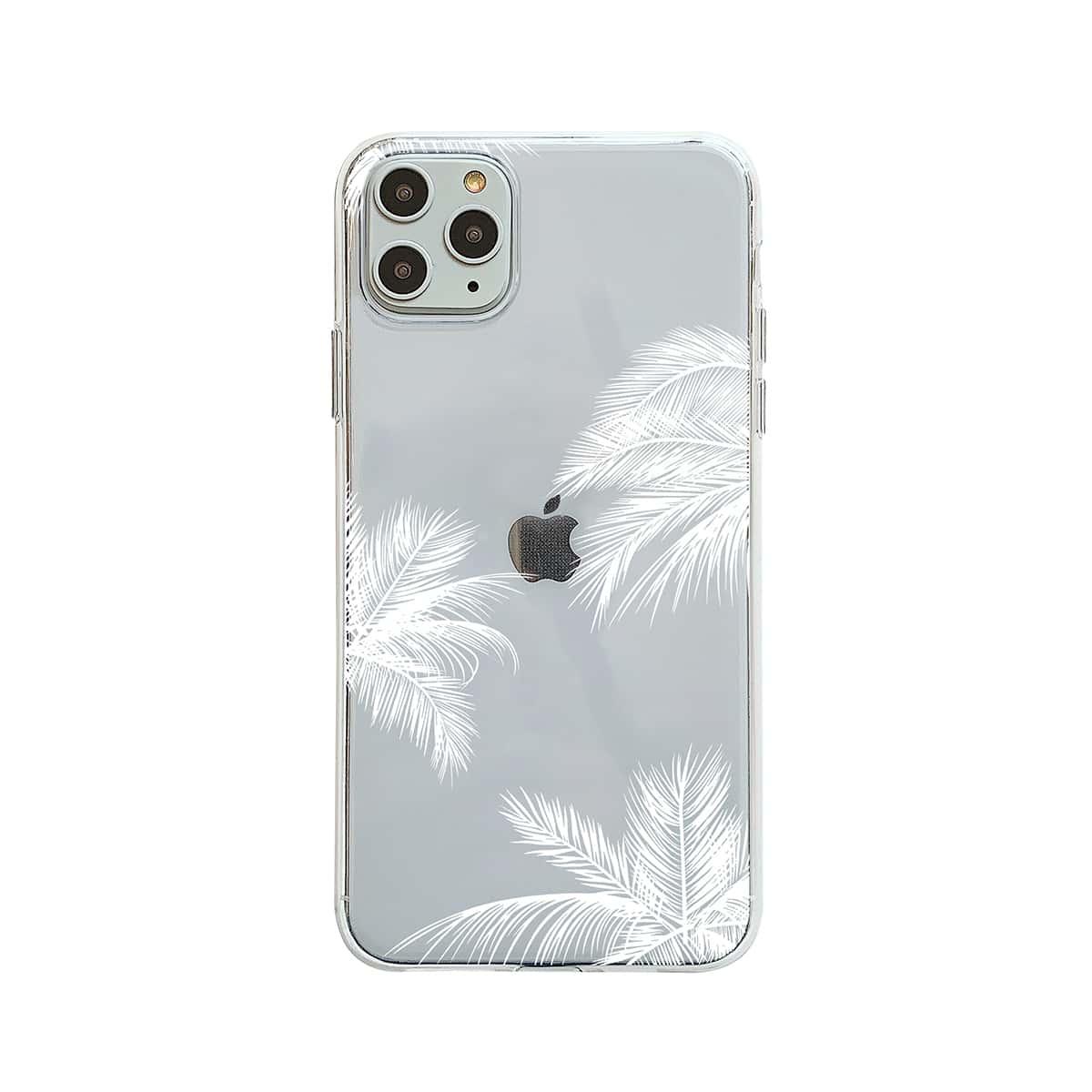1 pezzo custodia per iPhone trasparente con stampa pianta