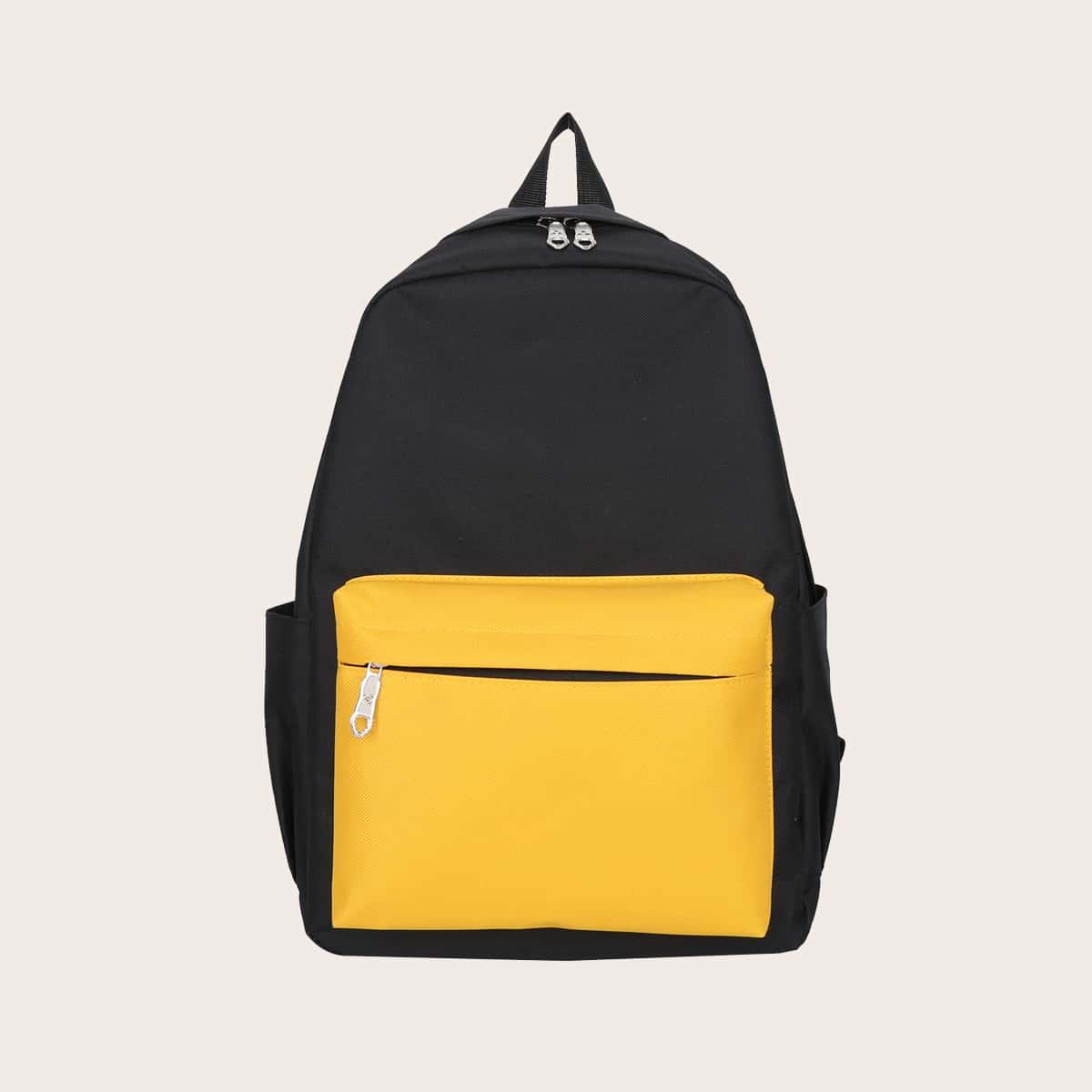 Двухцветный холщовый рюкзак