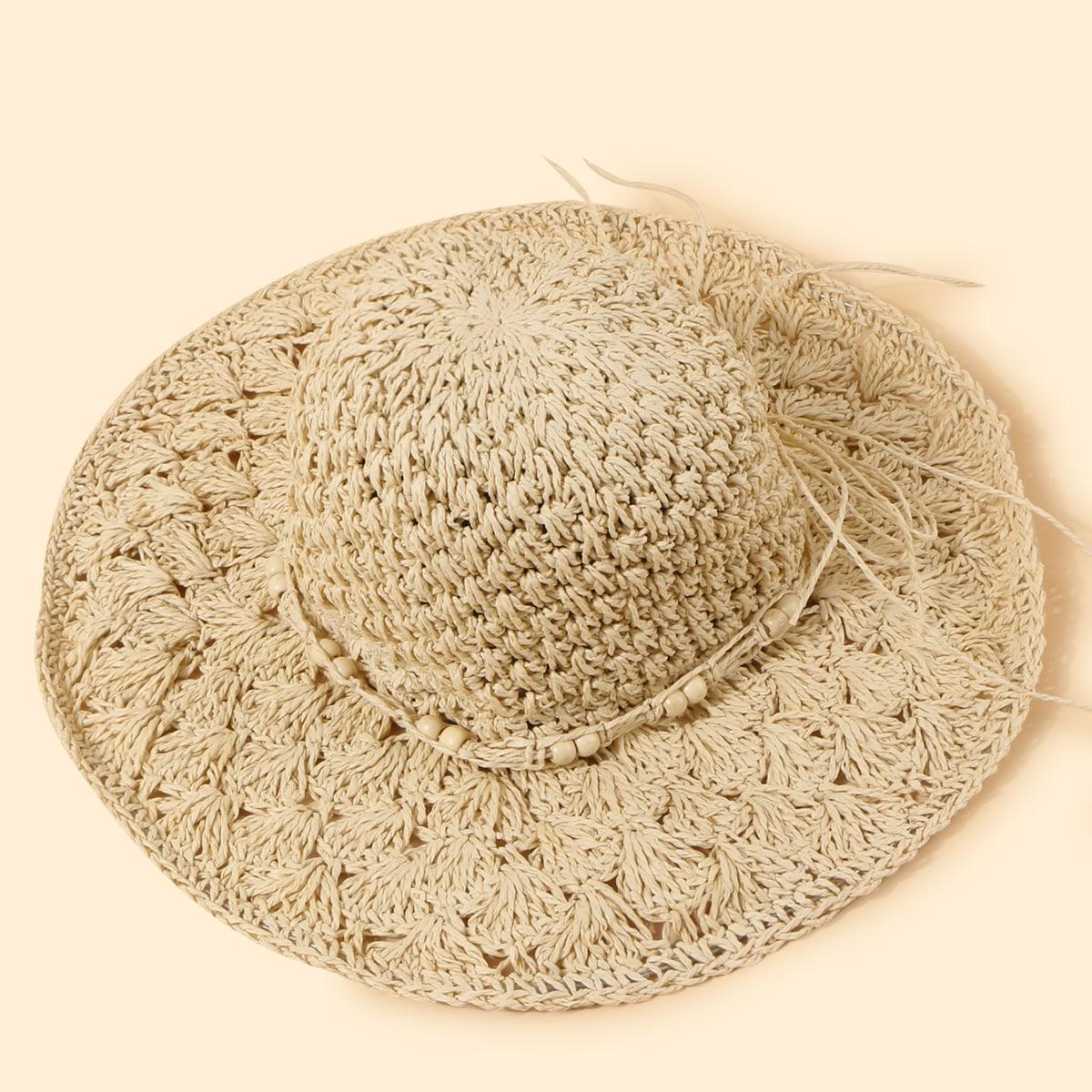 Простая соломенная шляпа