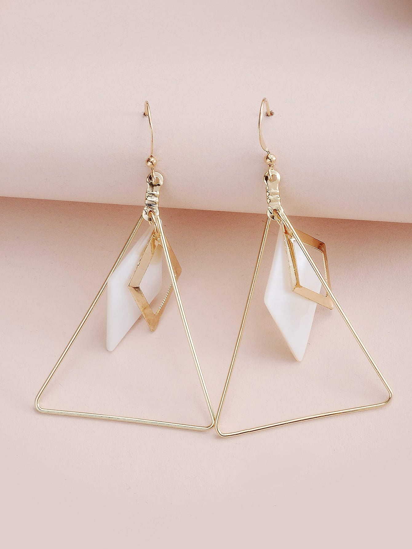 Hollow Out Triangle Drop Earrings thumbnail