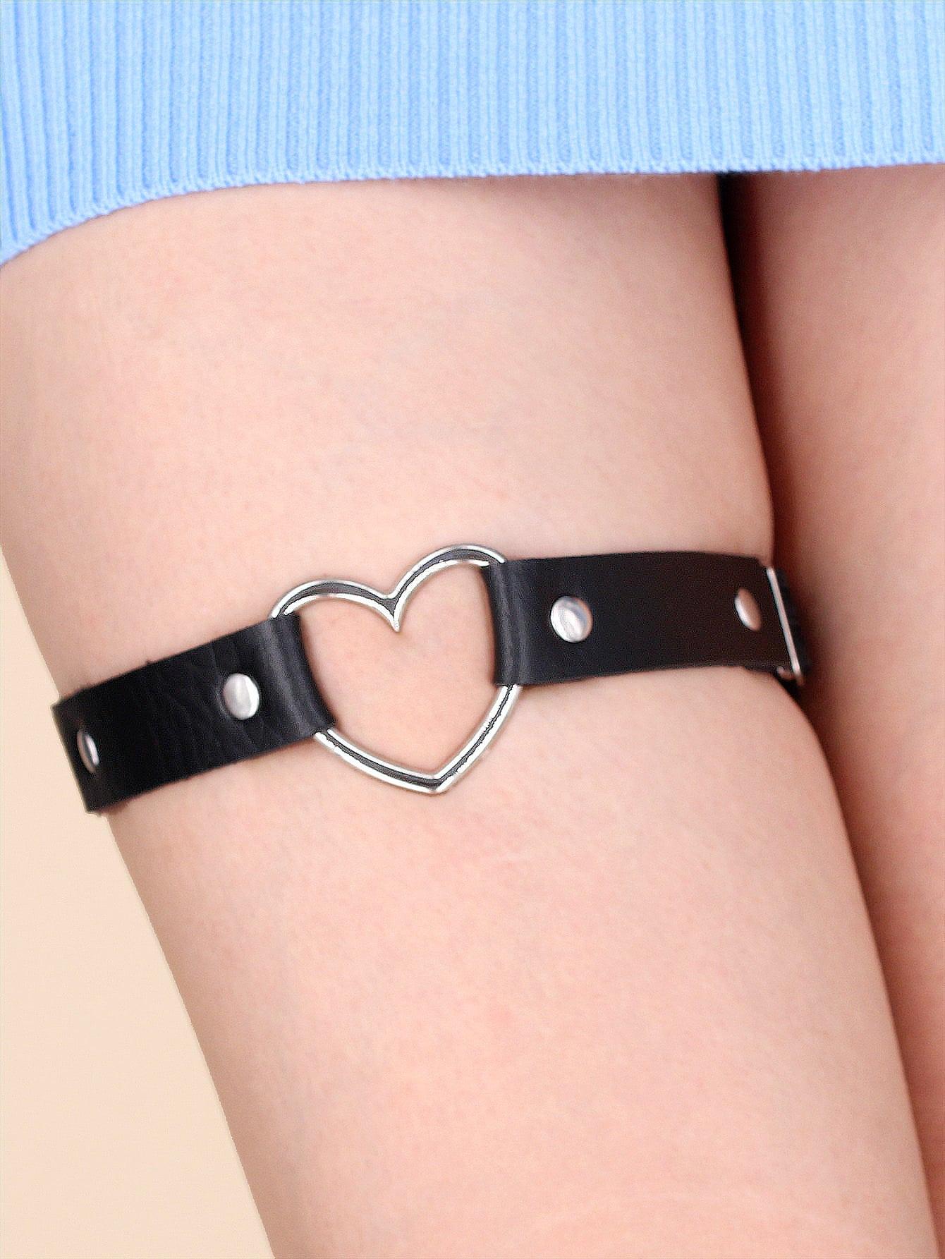 Heart Decor Thigh Garter thumbnail