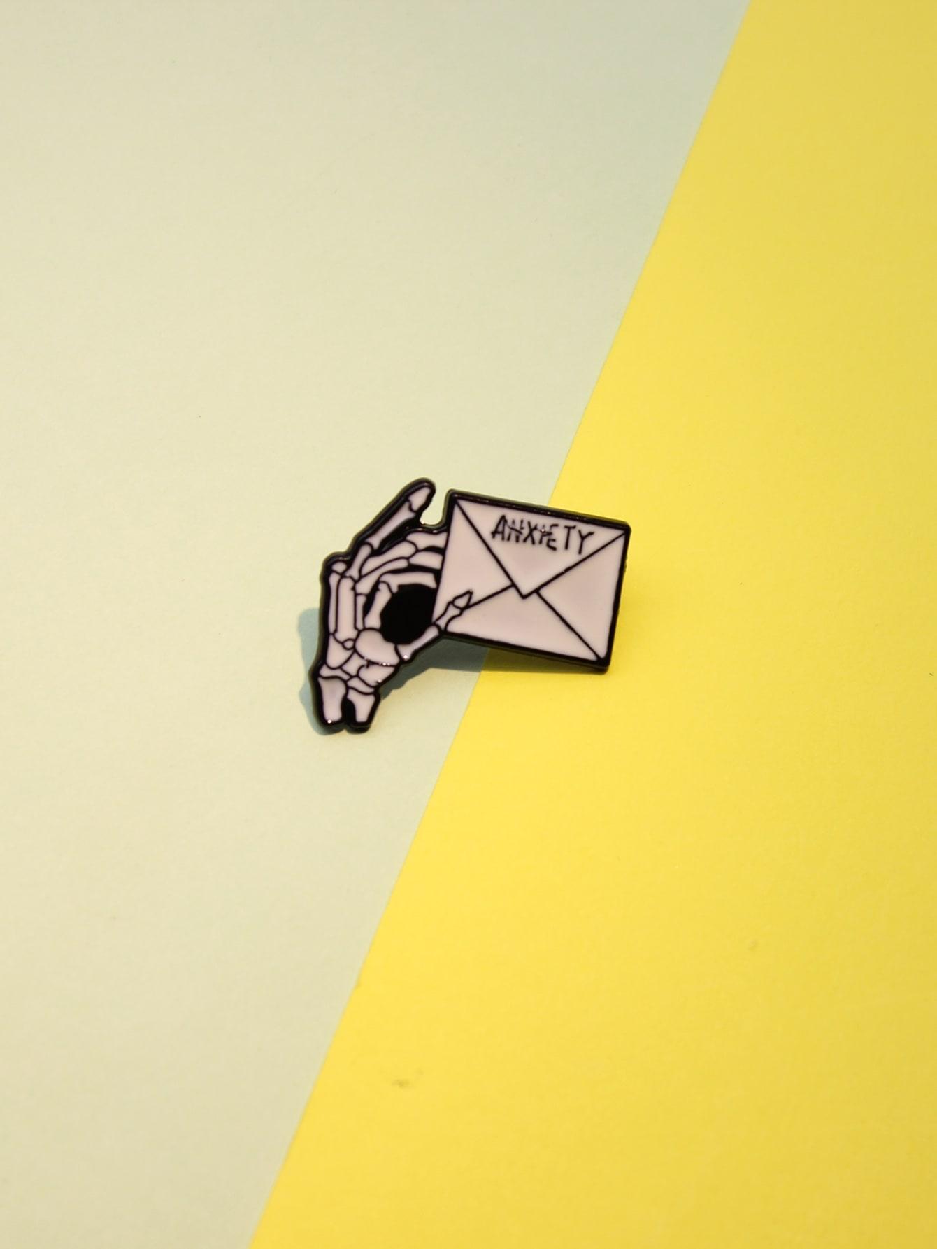 Skeleton Hand Envelope Brooch thumbnail