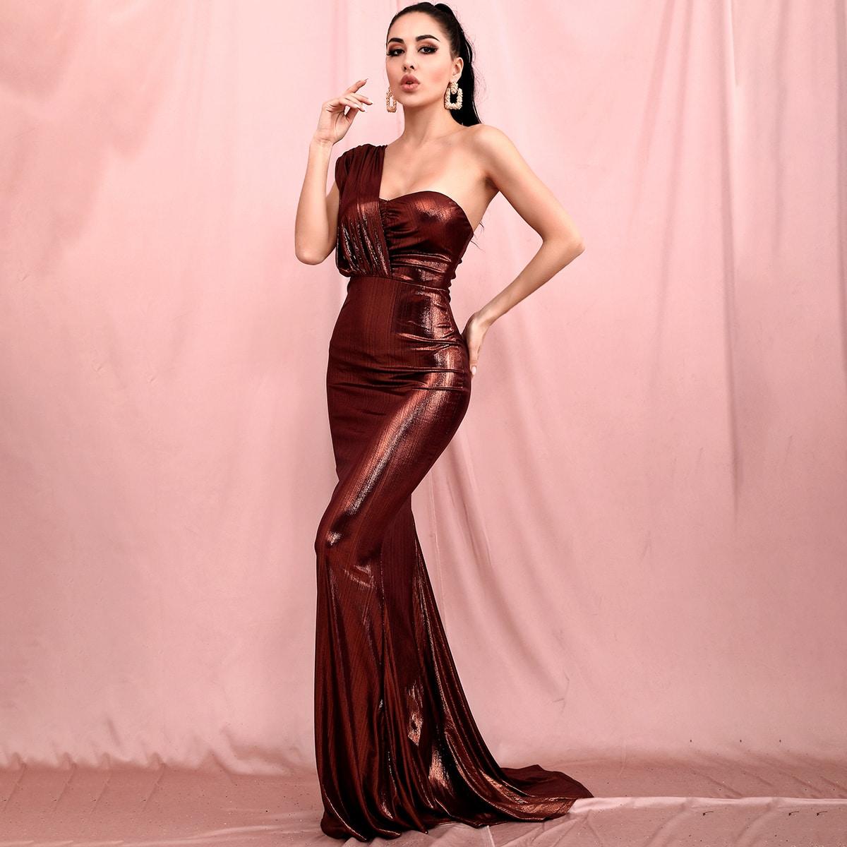 платье на одно плечо SheIn swdress42200805624