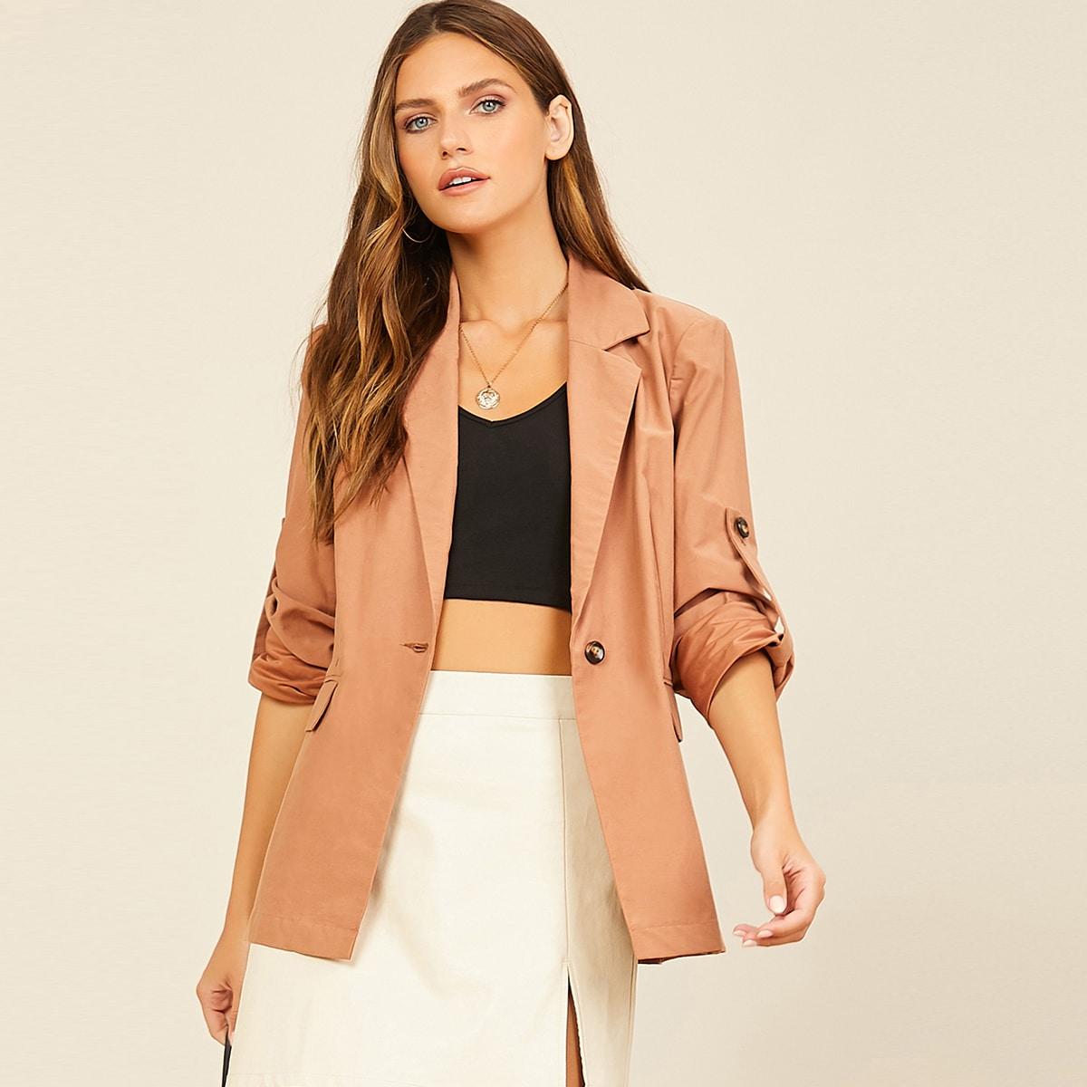 Вельветовый пиджак с узлом на манжетах
