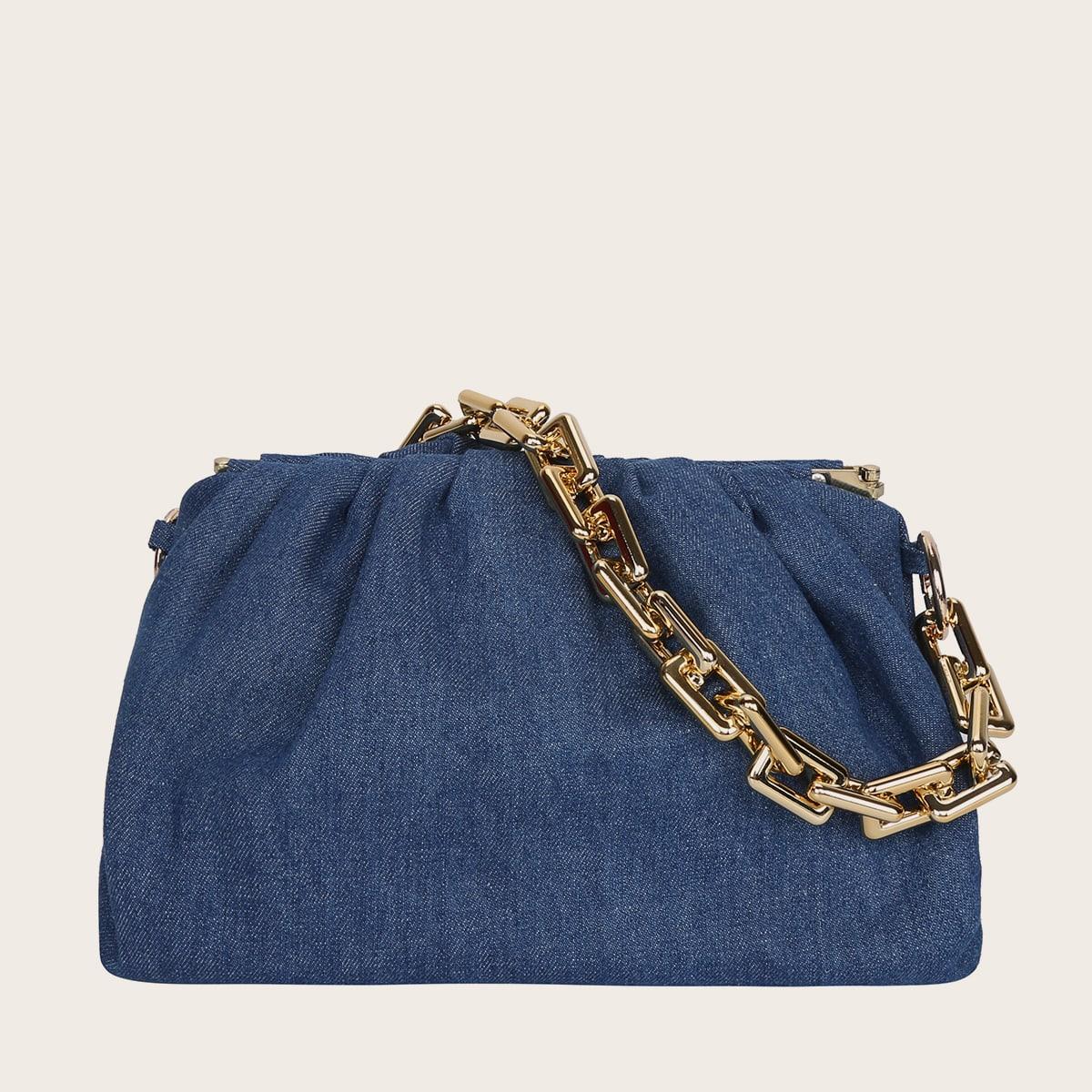Джинсовая сумка с цепочкой