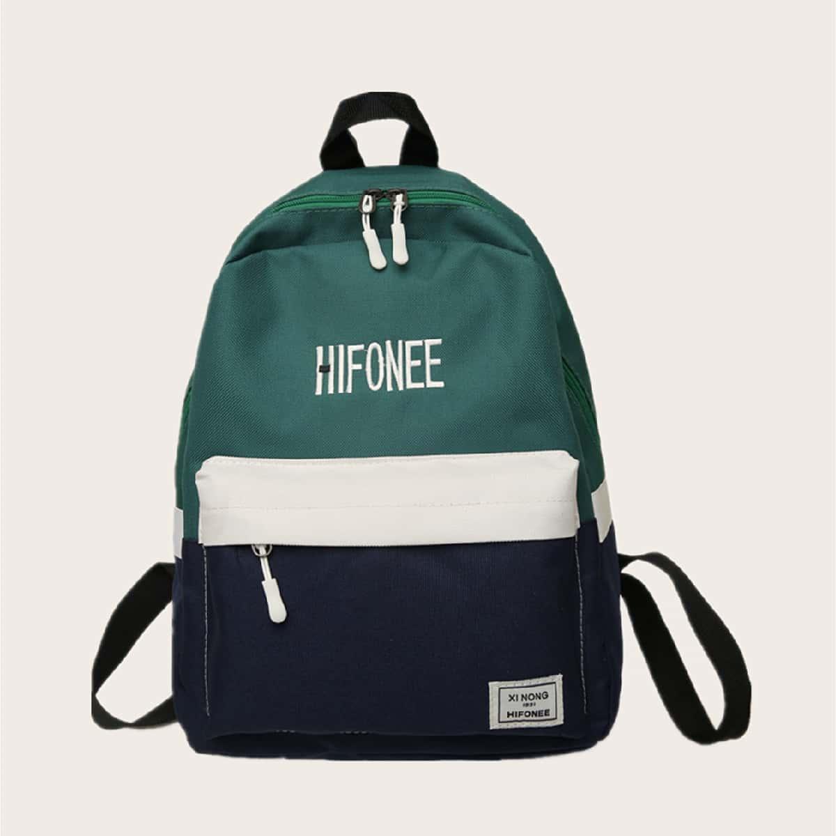 Контрастный рюкзак с вышивкой