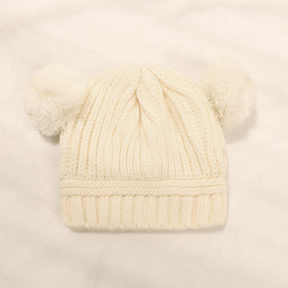 Kleinkind Mütze mit Pompon Dekor