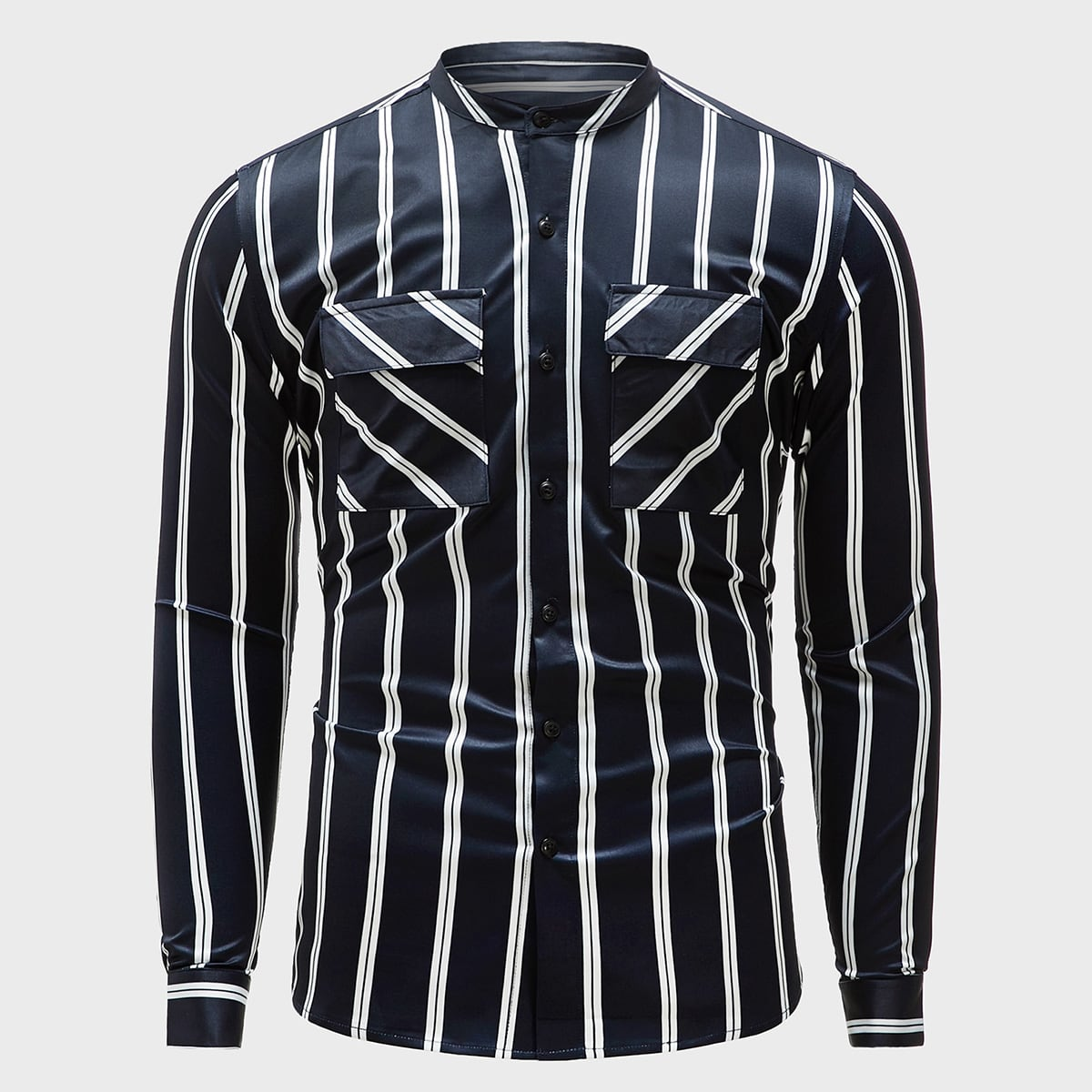 Карман полосатый институтский мужские рубашки