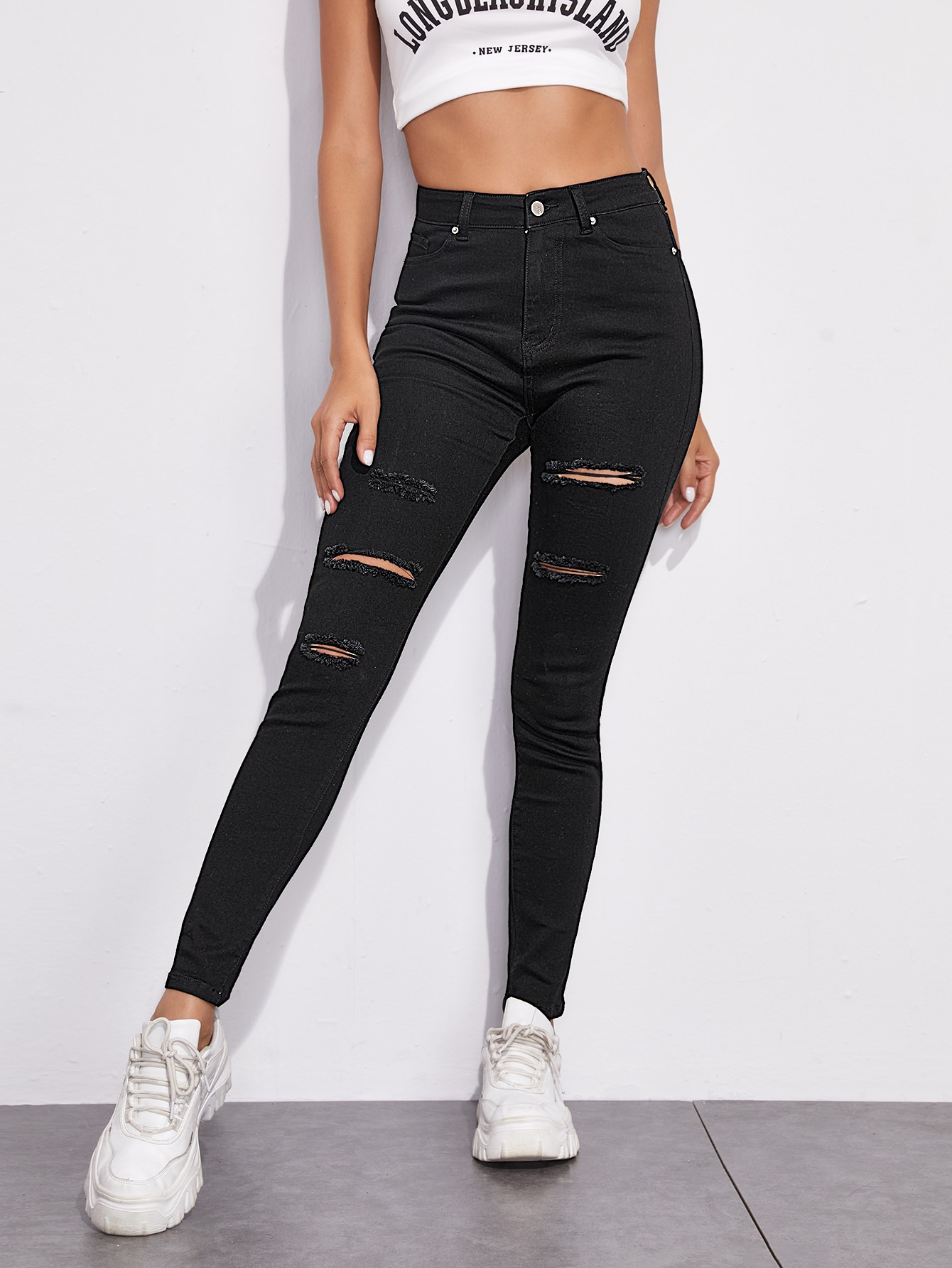 Ripped Detail Skinny Jeans thumbnail