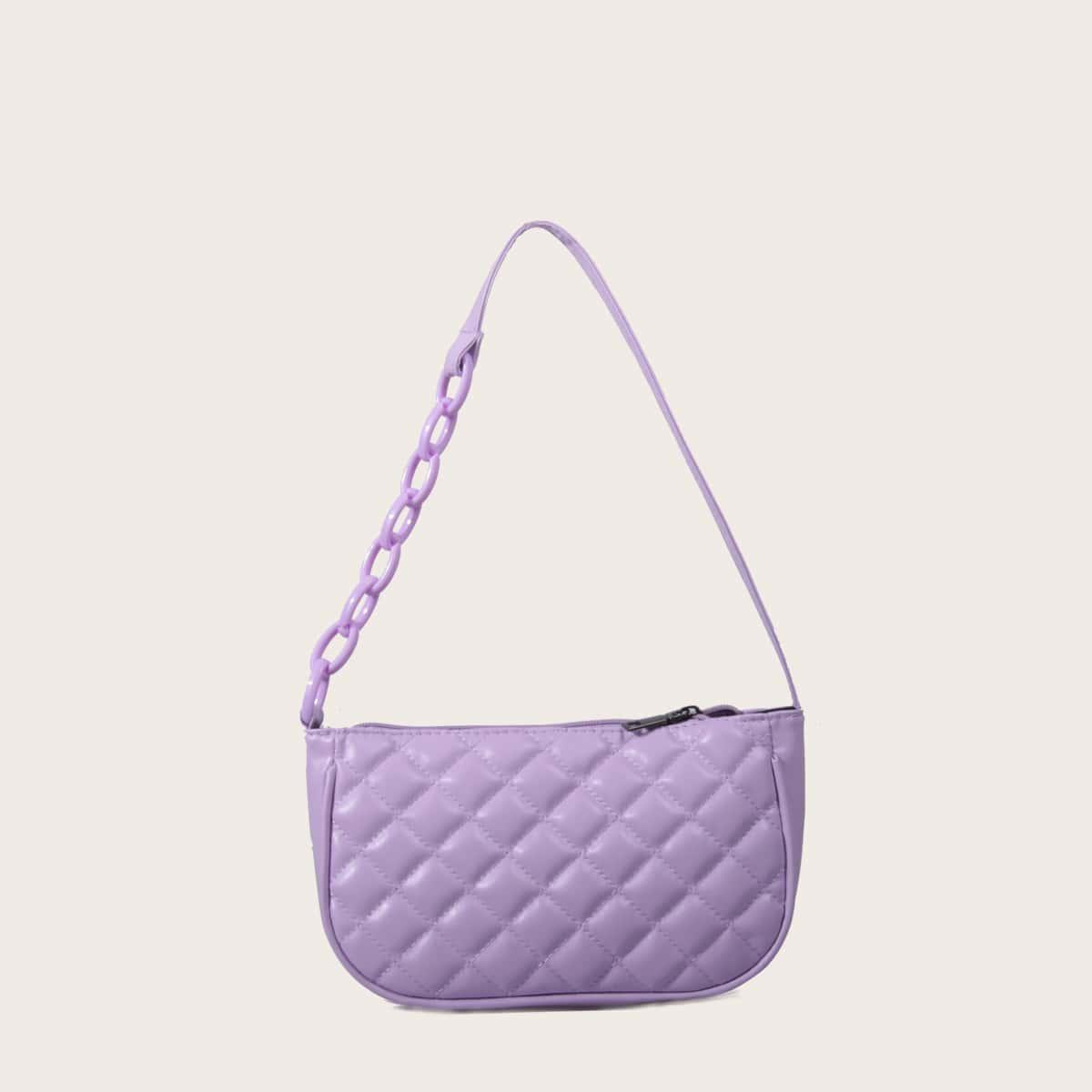 Стеганая сумка-багет
