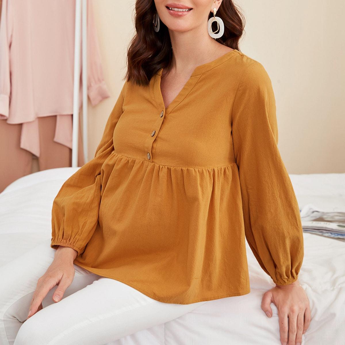 Топ с рукавом фонариком для беременных