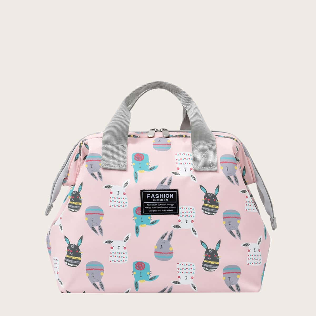 Cartoon Rabbit Graphic Satchel Bag