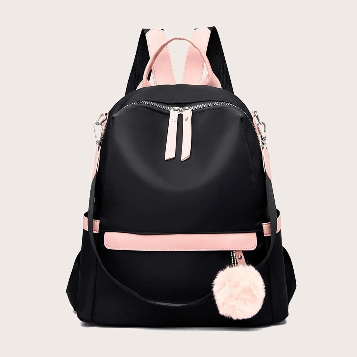 Рюкзак с помпоном