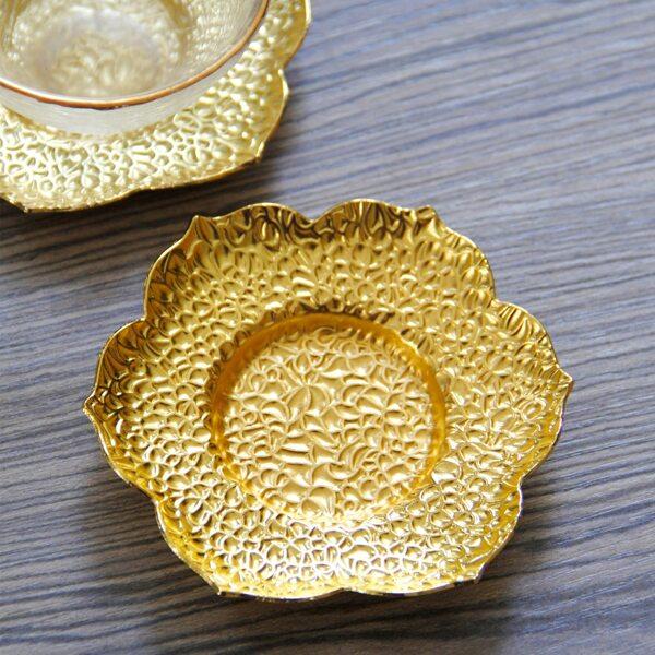 Подставка в форме цветка 1шт, Золотистый