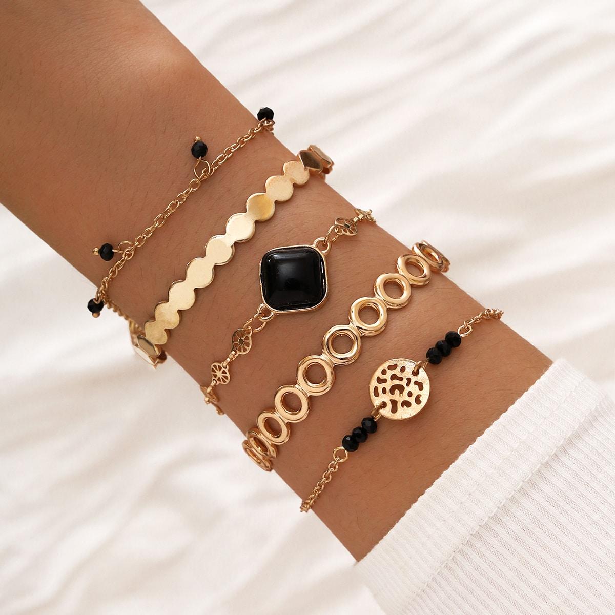 5 Stücke Armband mit geometrischem Dekor