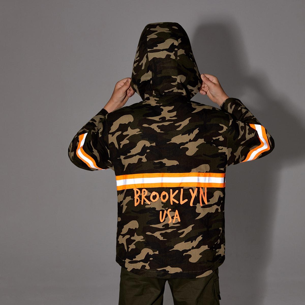 на молнии Текст Спортивный Куртки для мальчиков
