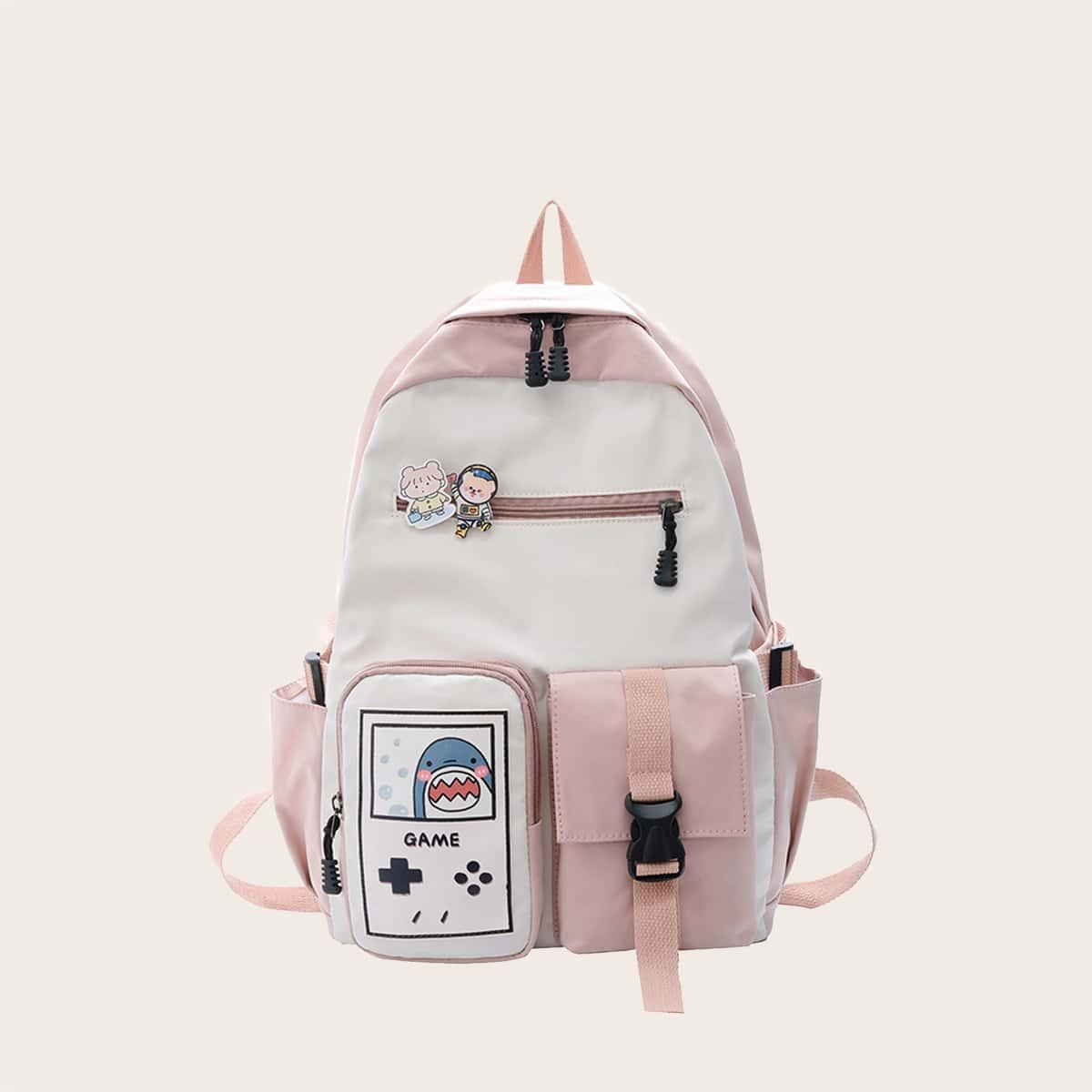Рюкзак с мультипликационным принтом