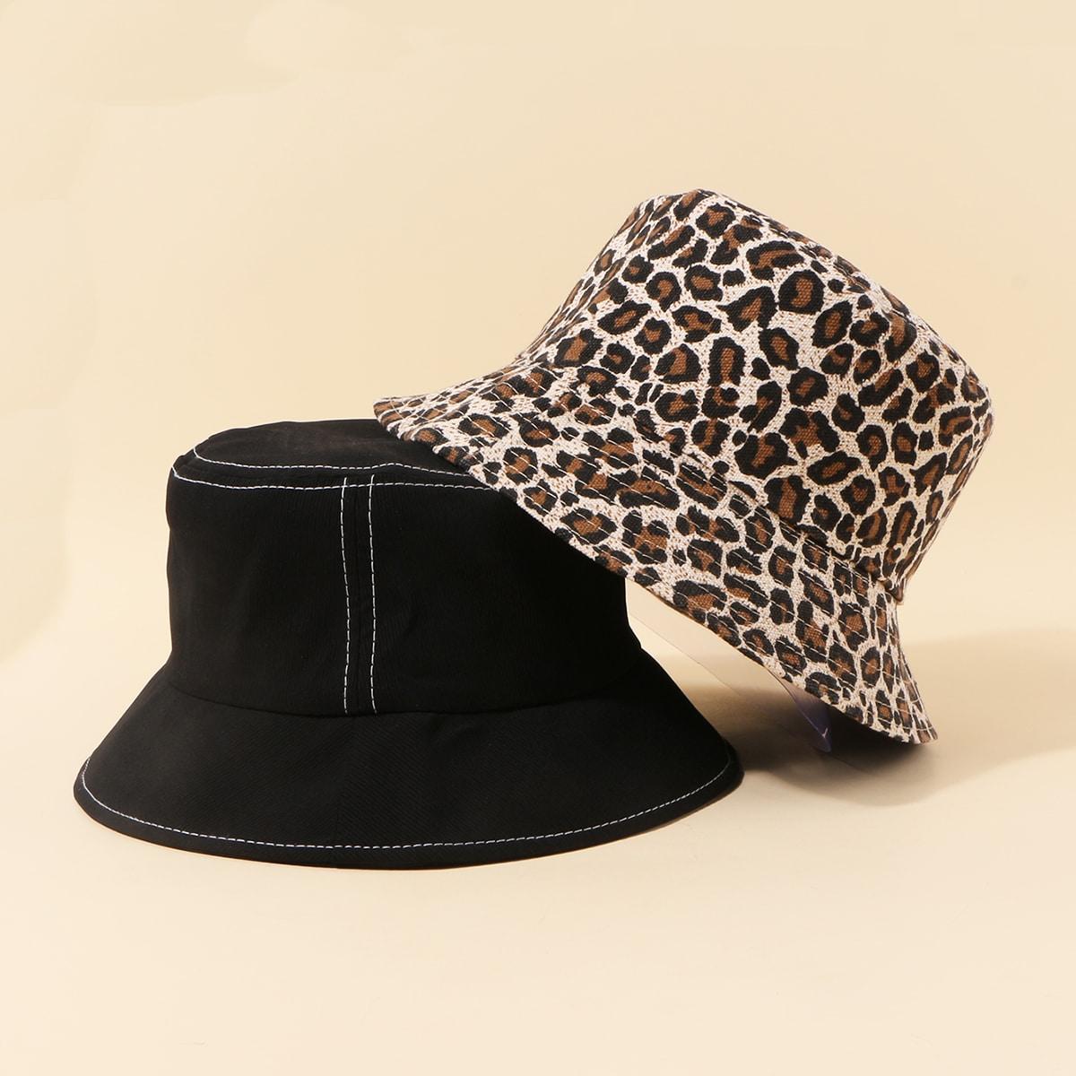 2шт шляпа с леопардовым узором