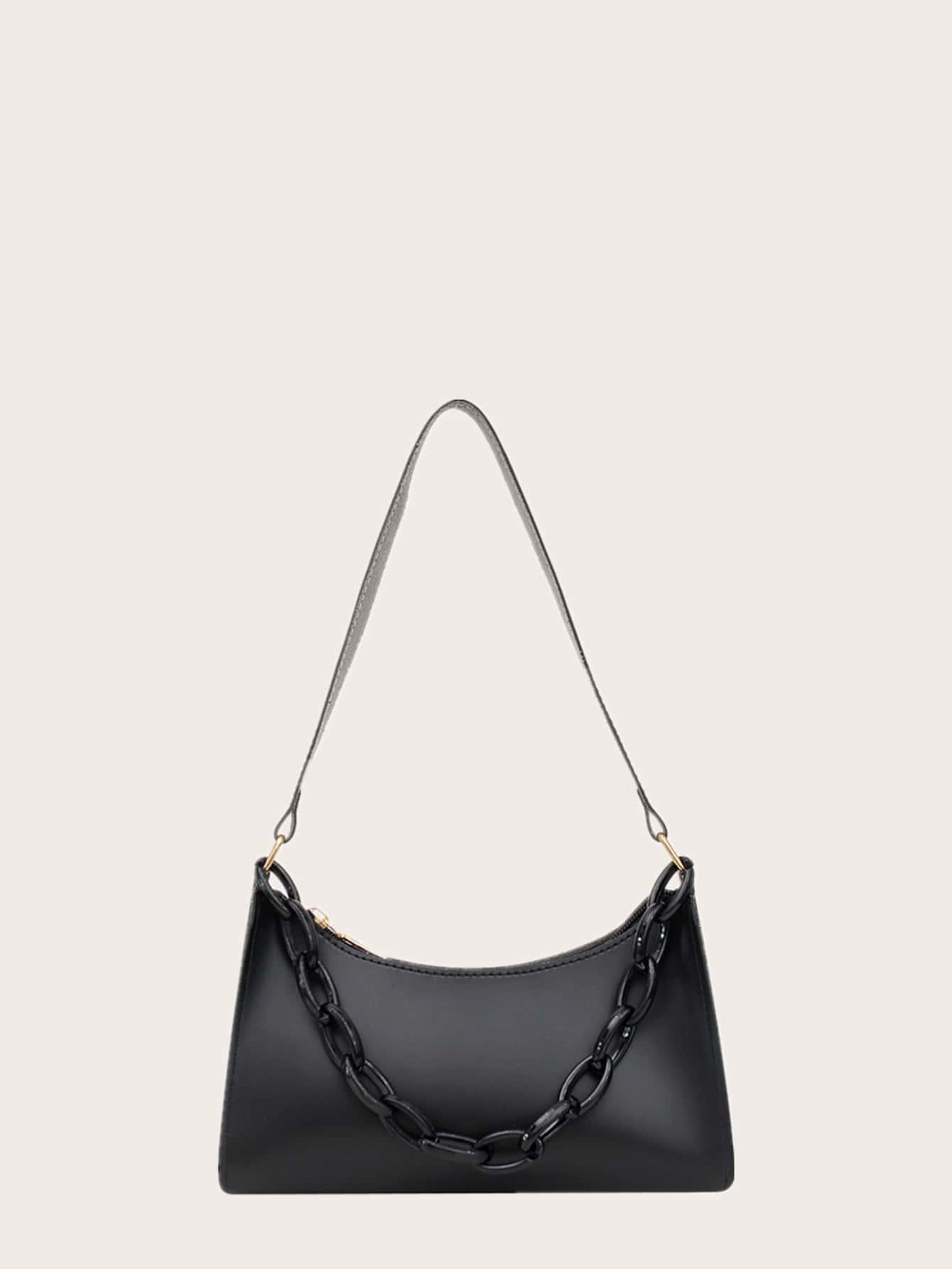 Минималистичная сумка-багетswbag18200811803