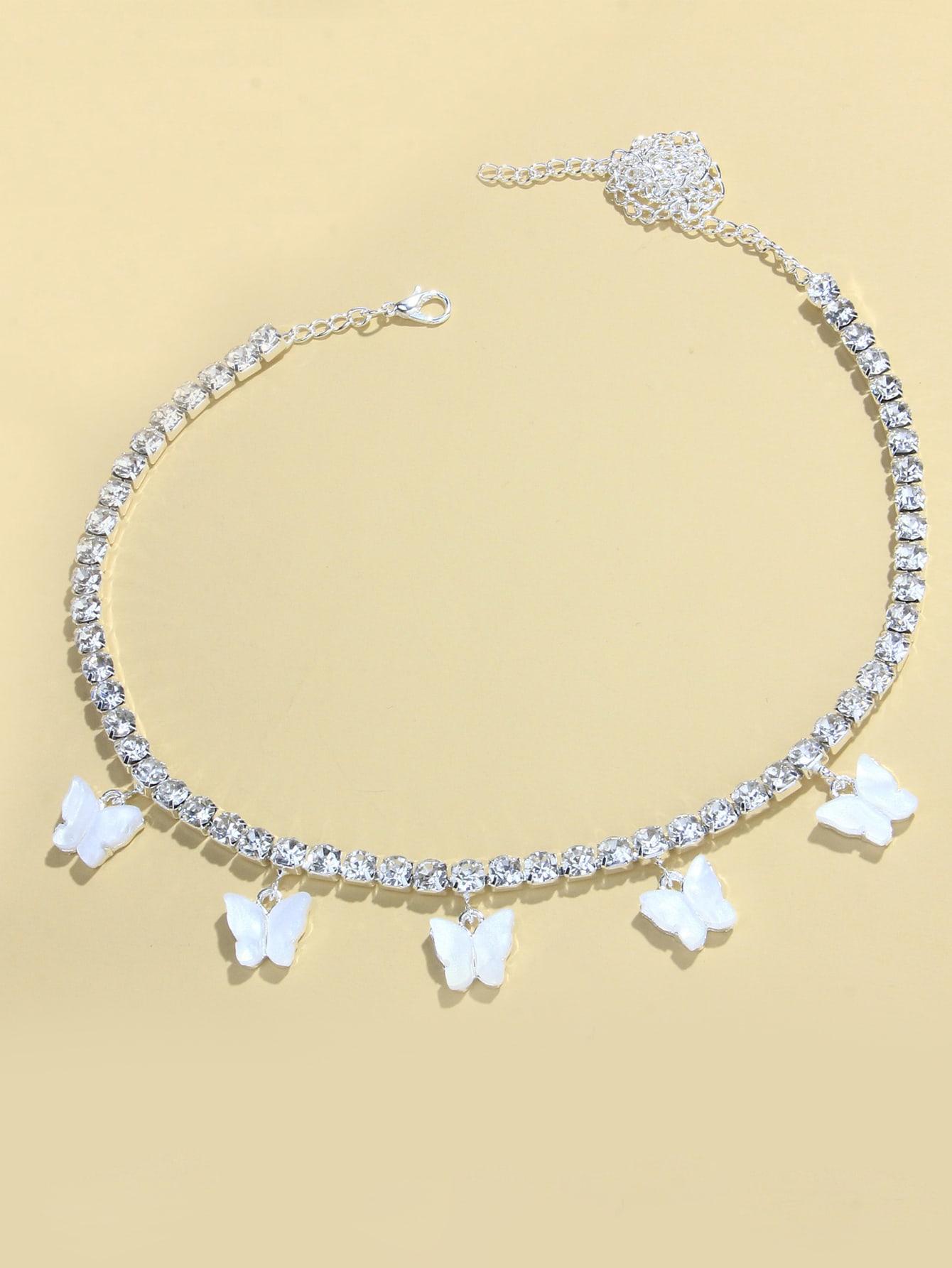 Ожерелье с бабочками и стразамиswneck18200811073