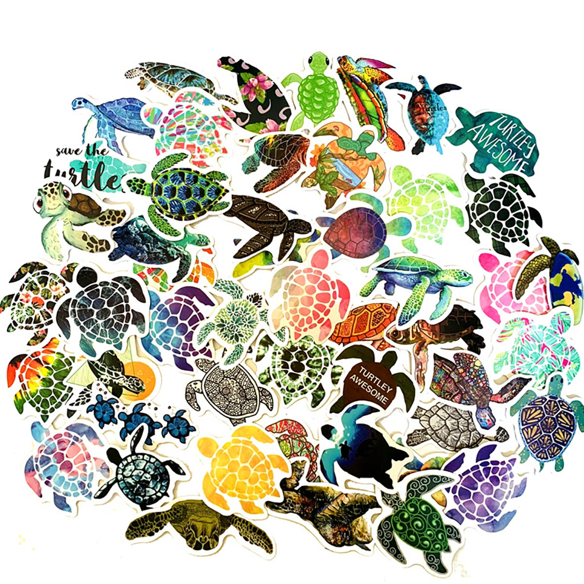 5Sea Turtle Pattern Sticker, SHEIN  - buy with discount