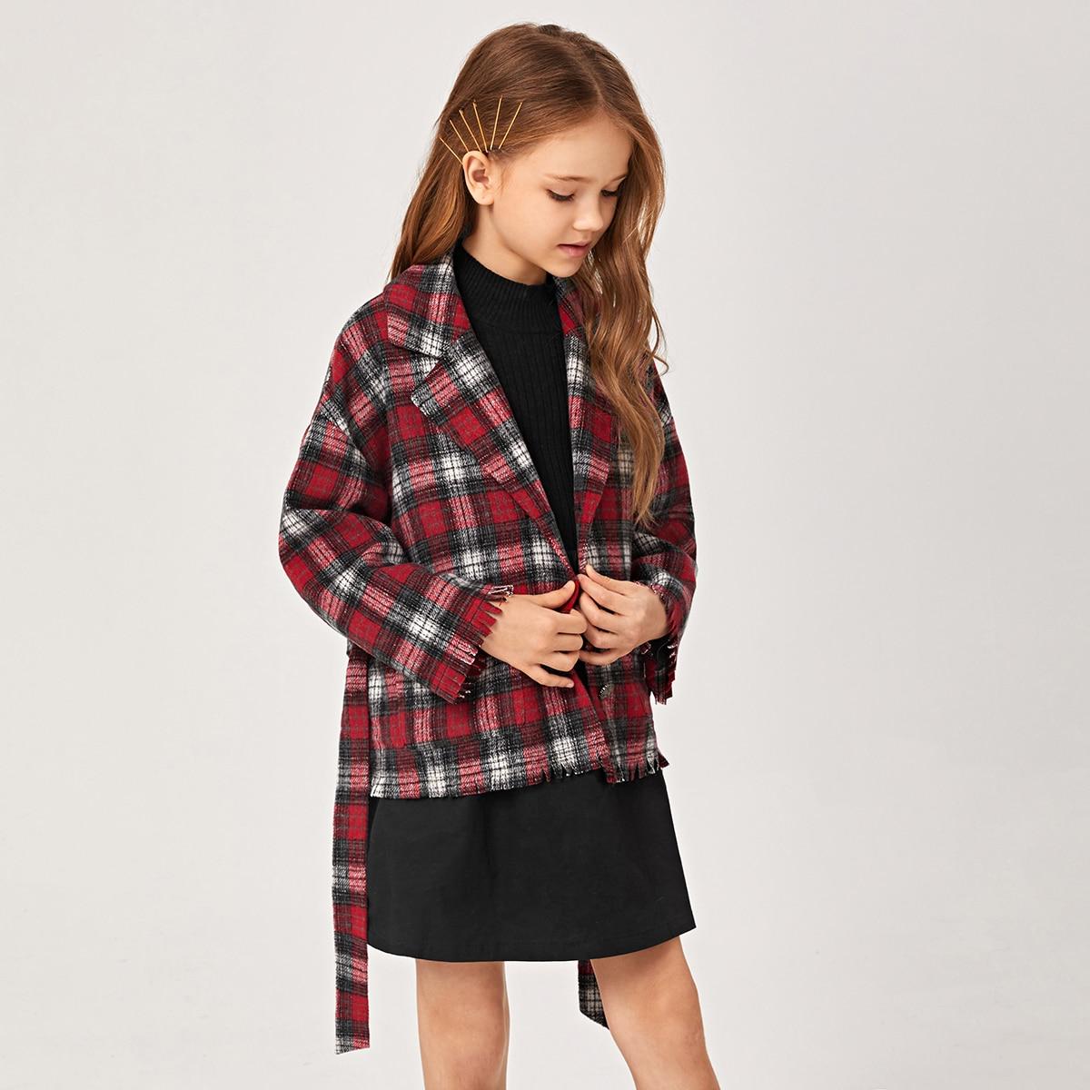 Taschen  Schottenkaros Preppy Mädchen Oberbekleidung