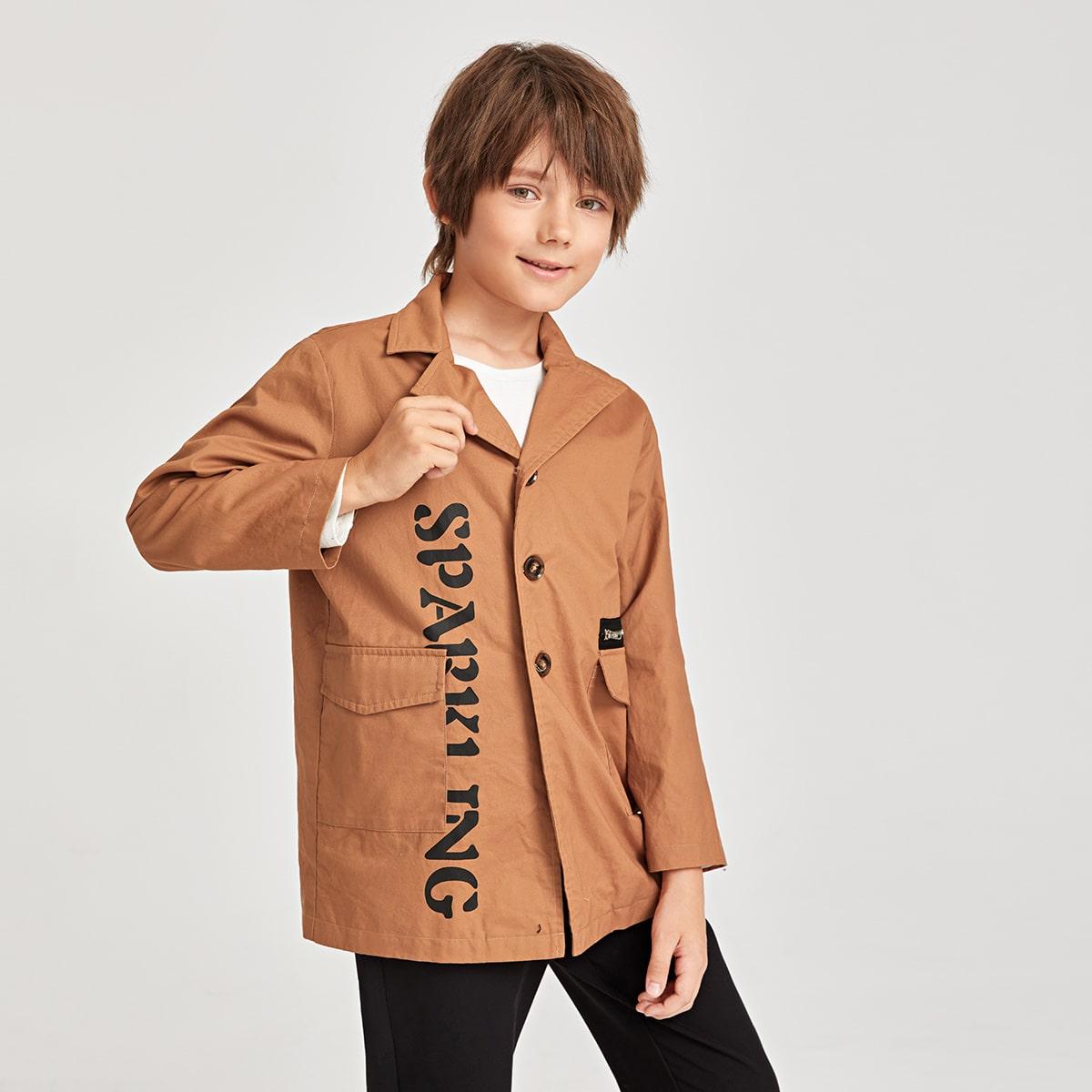 Taschen  Buchstaben  Lässig Jungen Oberbekleidung