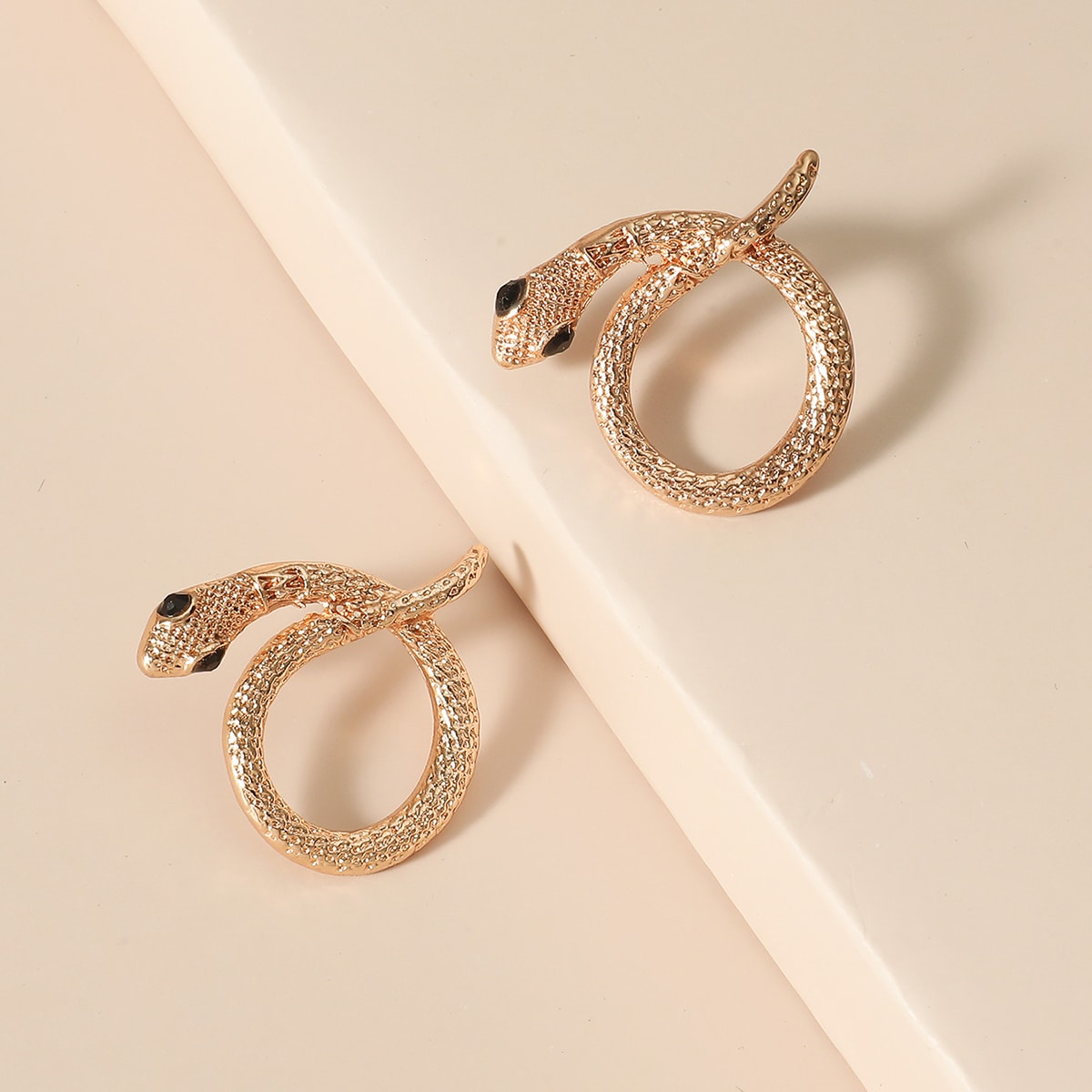 Snake Shaped Stud Earrings, SHEIN  - buy with discount