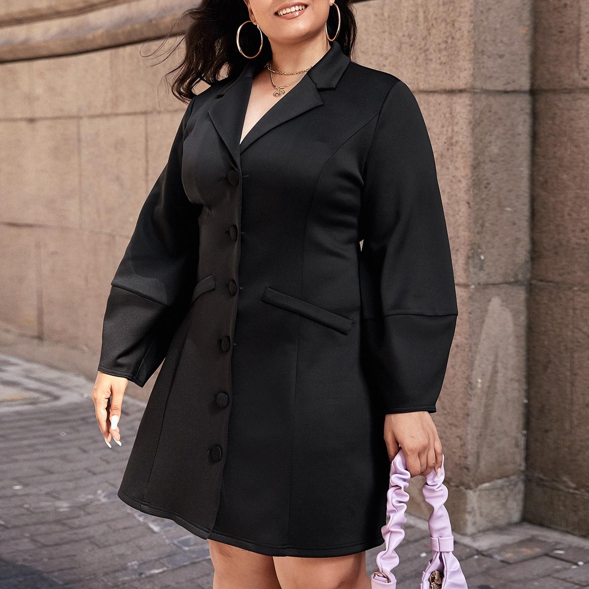 Пиджак-платье размера плюс с оригинальным рукавом